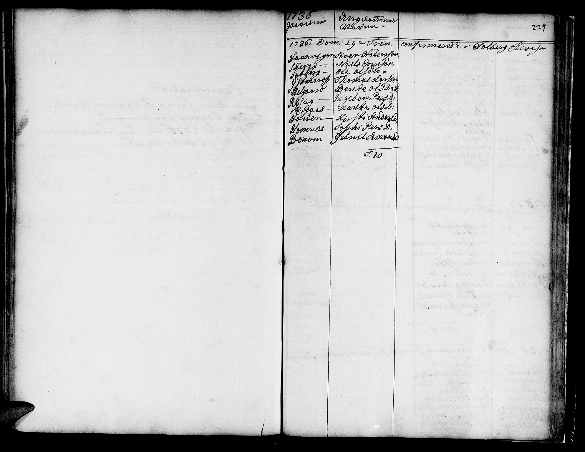 SAT, Ministerialprotokoller, klokkerbøker og fødselsregistre - Nord-Trøndelag, 741/L0385: Ministerialbok nr. 741A01, 1722-1815, s. 229