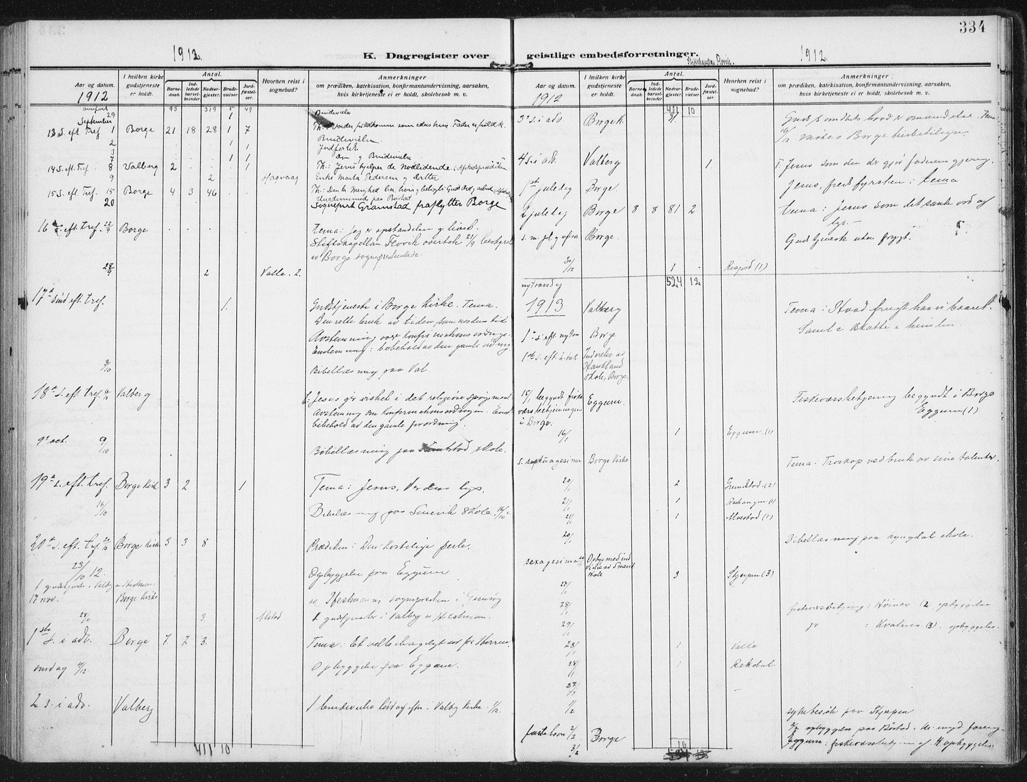 SAT, Ministerialprotokoller, klokkerbøker og fødselsregistre - Nordland, 880/L1135: Ministerialbok nr. 880A09, 1908-1919, s. 334