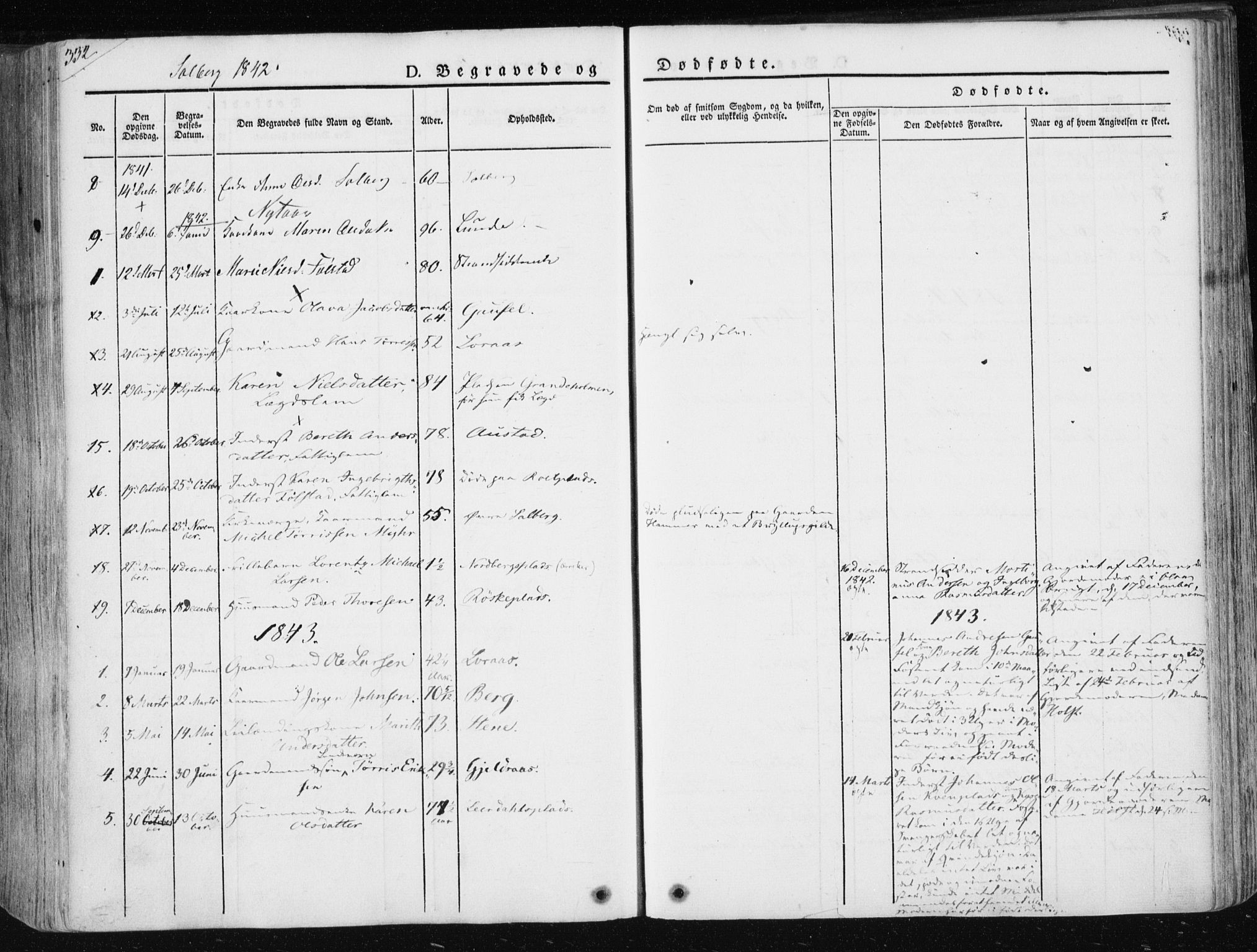 SAT, Ministerialprotokoller, klokkerbøker og fødselsregistre - Nord-Trøndelag, 730/L0280: Ministerialbok nr. 730A07 /2, 1840-1854, s. 322