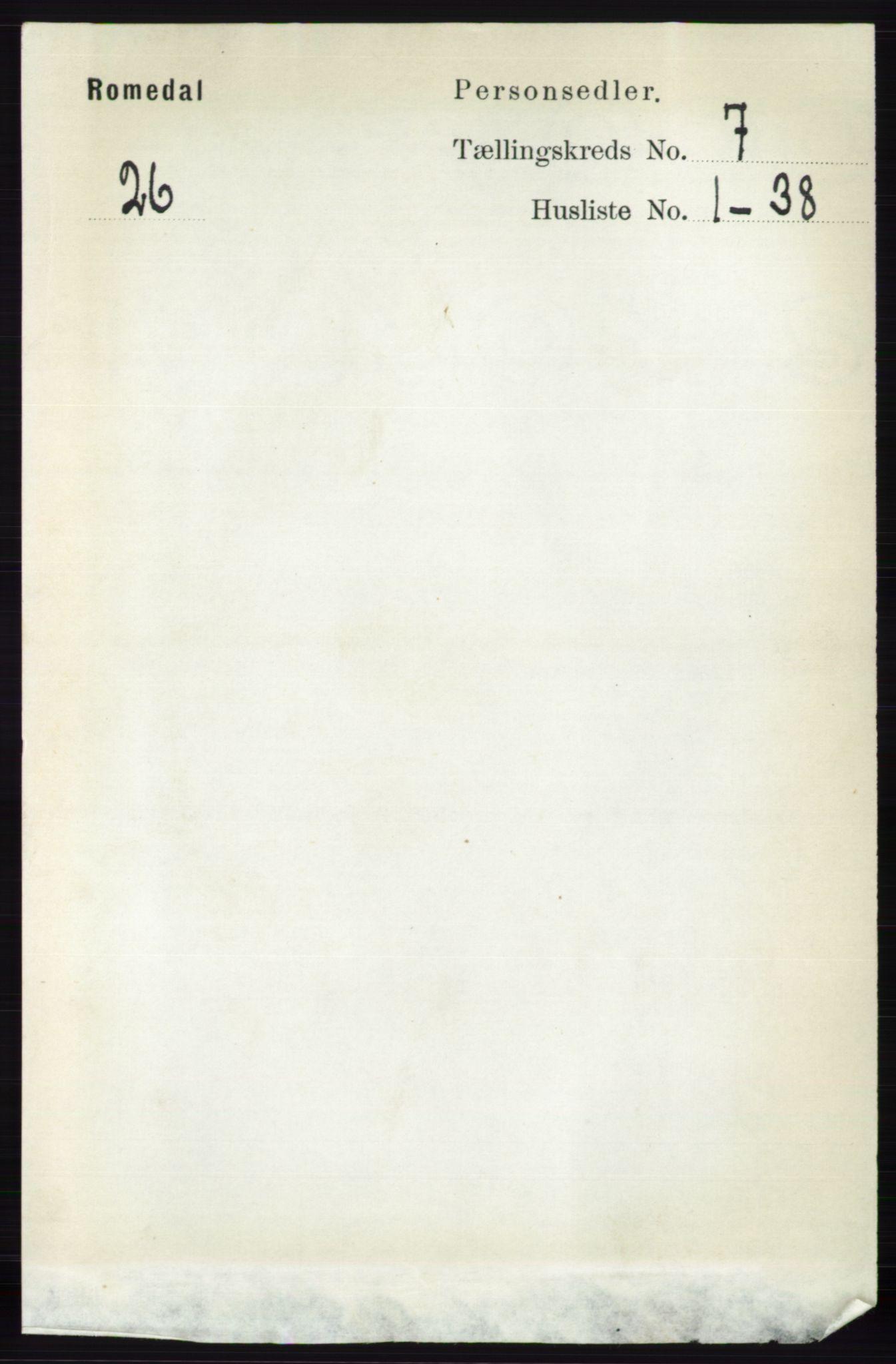 RA, Folketelling 1891 for 0416 Romedal herred, 1891, s. 3556