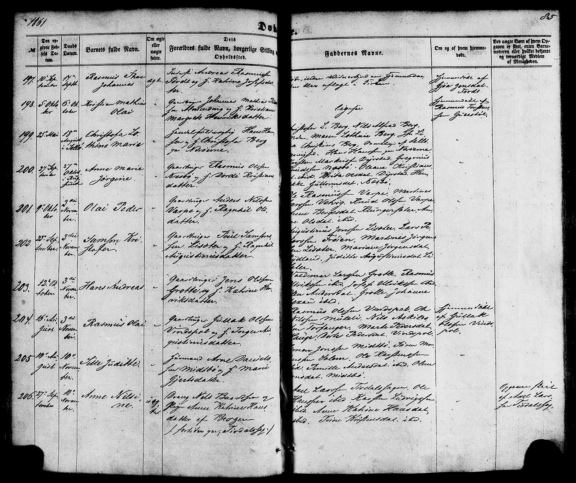 SAB, Kinn Sokneprestembete, Ministerialbok nr. A 6, 1857-1885, s. 85