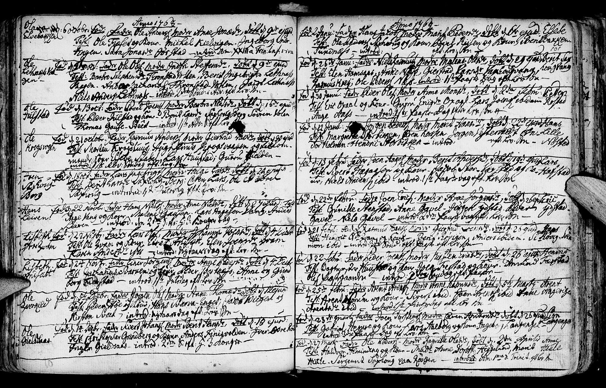 SAT, Ministerialprotokoller, klokkerbøker og fødselsregistre - Nord-Trøndelag, 730/L0273: Ministerialbok nr. 730A02, 1762-1802, s. 101