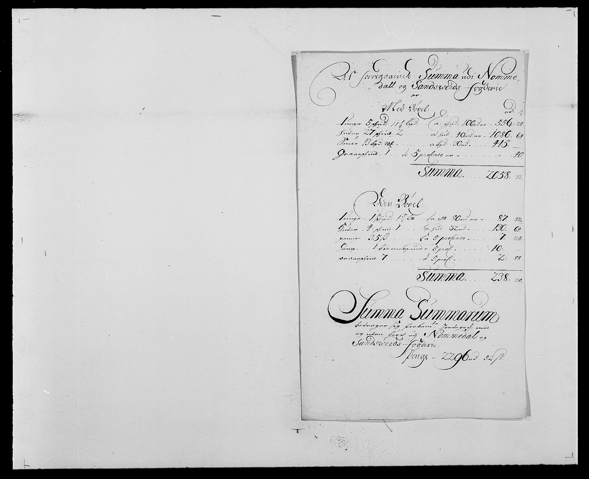 RA, Rentekammeret inntil 1814, Reviderte regnskaper, Fogderegnskap, R24/L1571: Fogderegnskap Numedal og Sandsvær, 1679-1686, s. 1