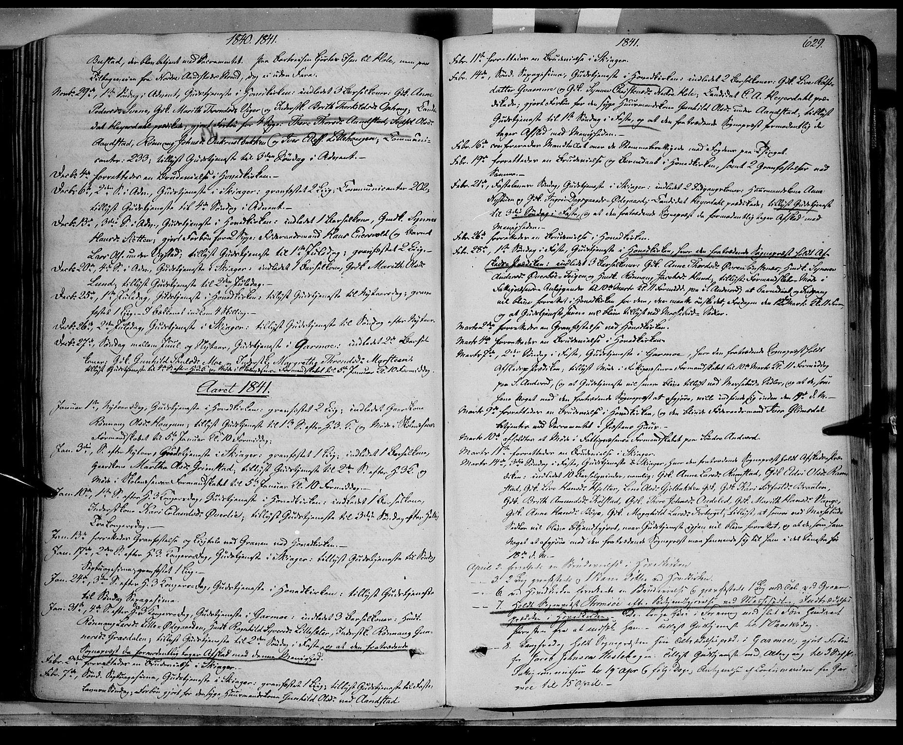 SAH, Lom prestekontor, K/L0006: Ministerialbok nr. 6B, 1837-1863, s. 629