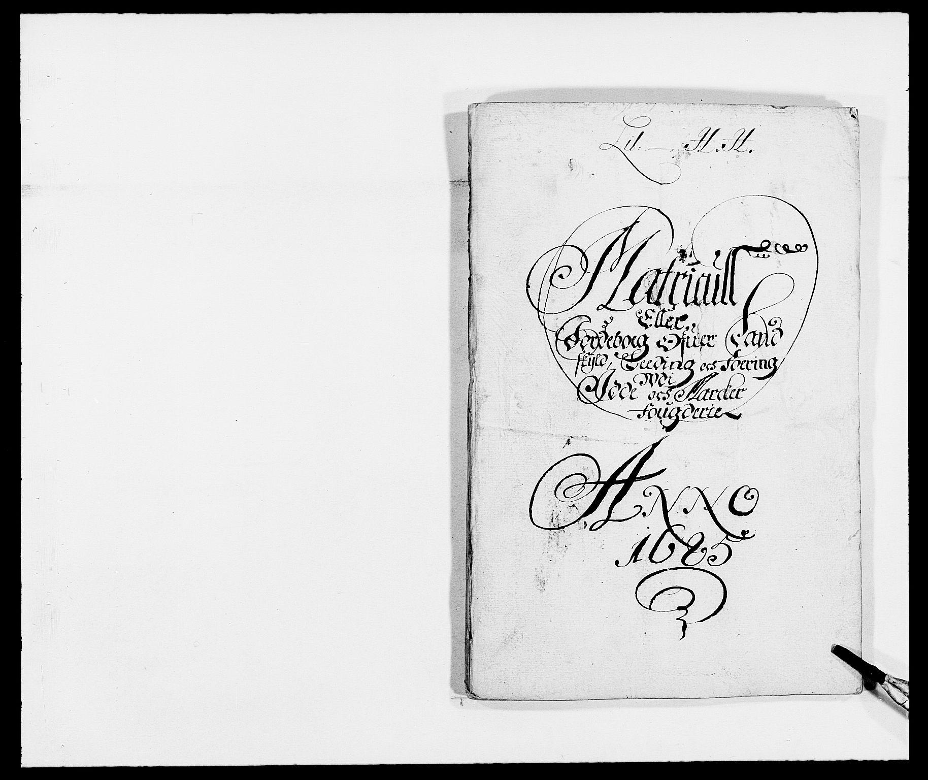 RA, Rentekammeret inntil 1814, Reviderte regnskaper, Fogderegnskap, R01/L0006: Fogderegnskap Idd og Marker, 1685-1686, s. 12