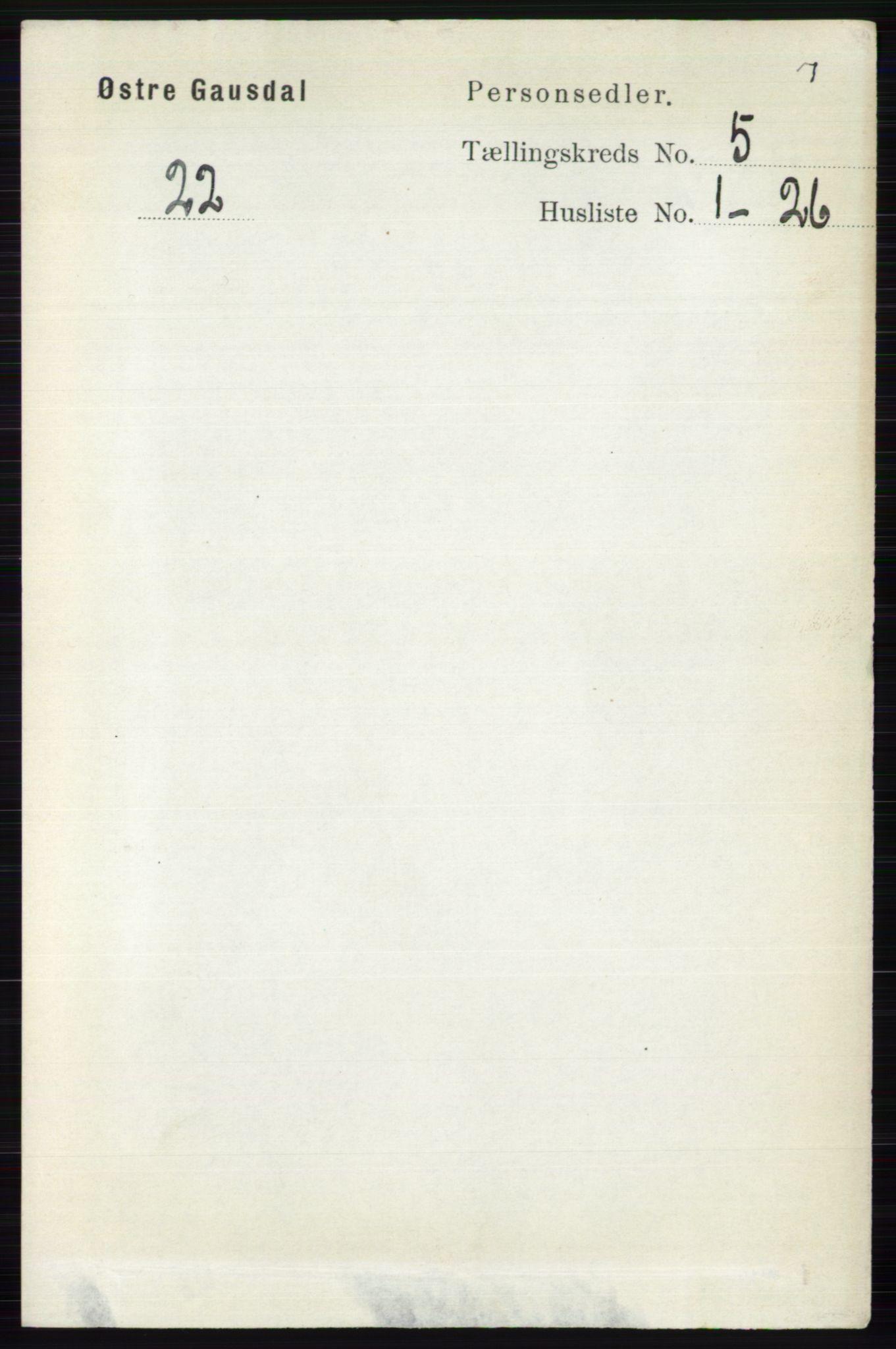 RA, Folketelling 1891 for 0522 Østre Gausdal herred, 1891, s. 2990