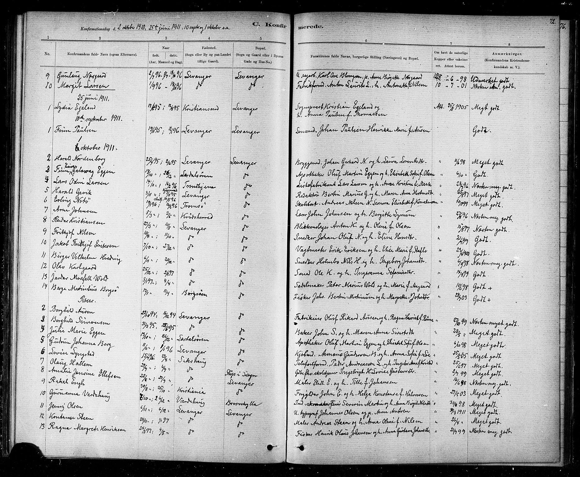 SAT, Ministerialprotokoller, klokkerbøker og fødselsregistre - Nord-Trøndelag, 720/L0192: Klokkerbok nr. 720C01, 1880-1917, s. 72
