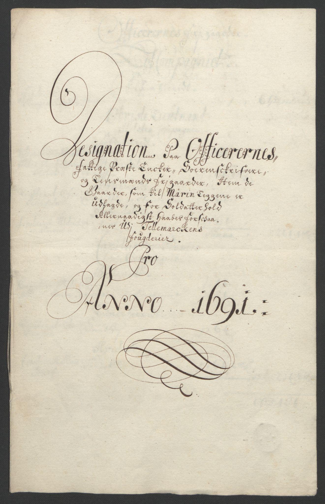 RA, Rentekammeret inntil 1814, Reviderte regnskaper, Fogderegnskap, R35/L2091: Fogderegnskap Øvre og Nedre Telemark, 1690-1693, s. 154