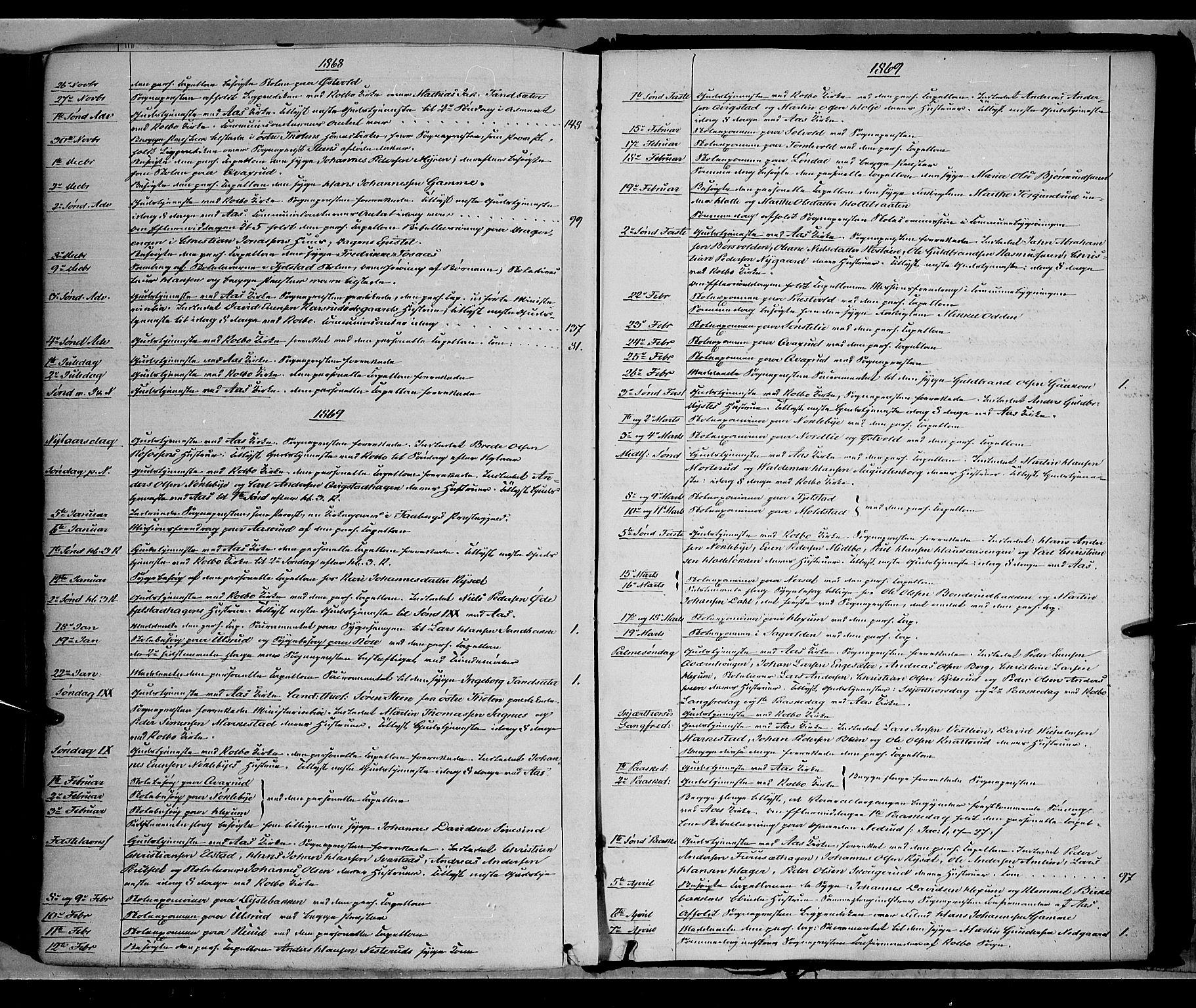 SAH, Vestre Toten prestekontor, H/Ha/Haa/L0007: Ministerialbok nr. 7, 1862-1869, s. 380
