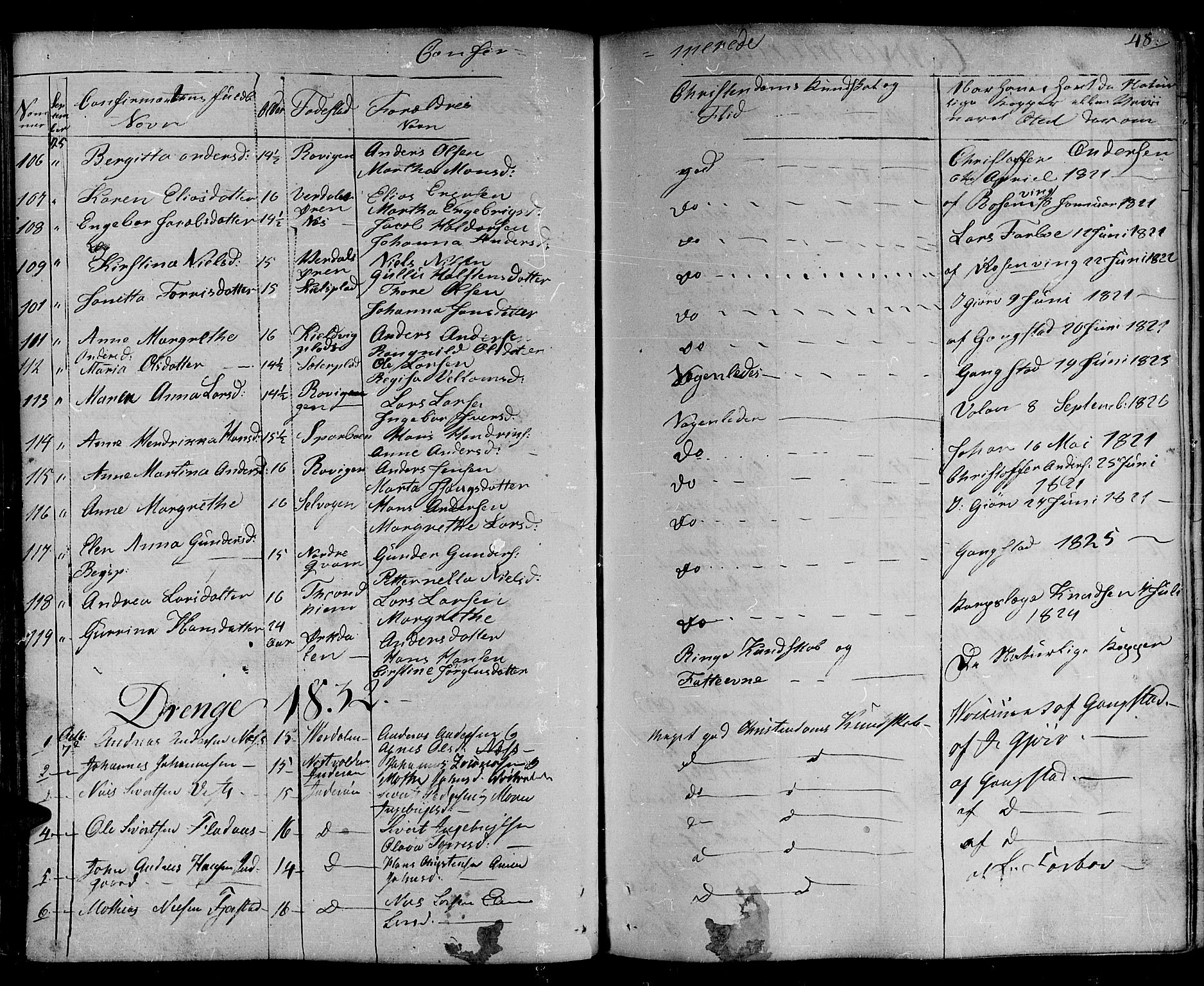 SAT, Ministerialprotokoller, klokkerbøker og fødselsregistre - Nord-Trøndelag, 730/L0277: Ministerialbok nr. 730A06 /1, 1830-1839, s. 48