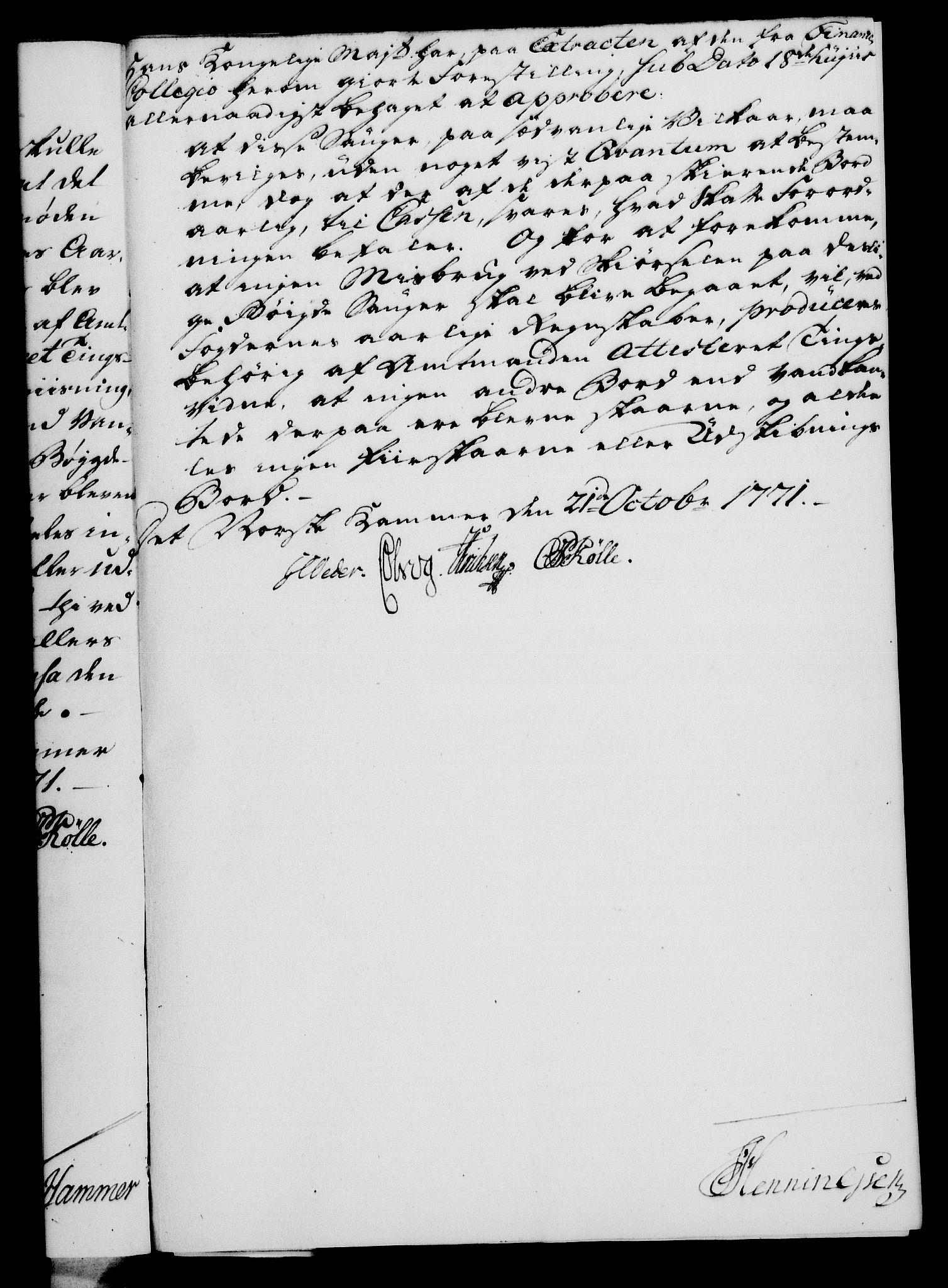 RA, Rentekammeret, Kammerkanselliet, G/Gf/Gfa/L0054: Norsk relasjons- og resolusjonsprotokoll (merket RK 52.54), 1771-1772, s. 156