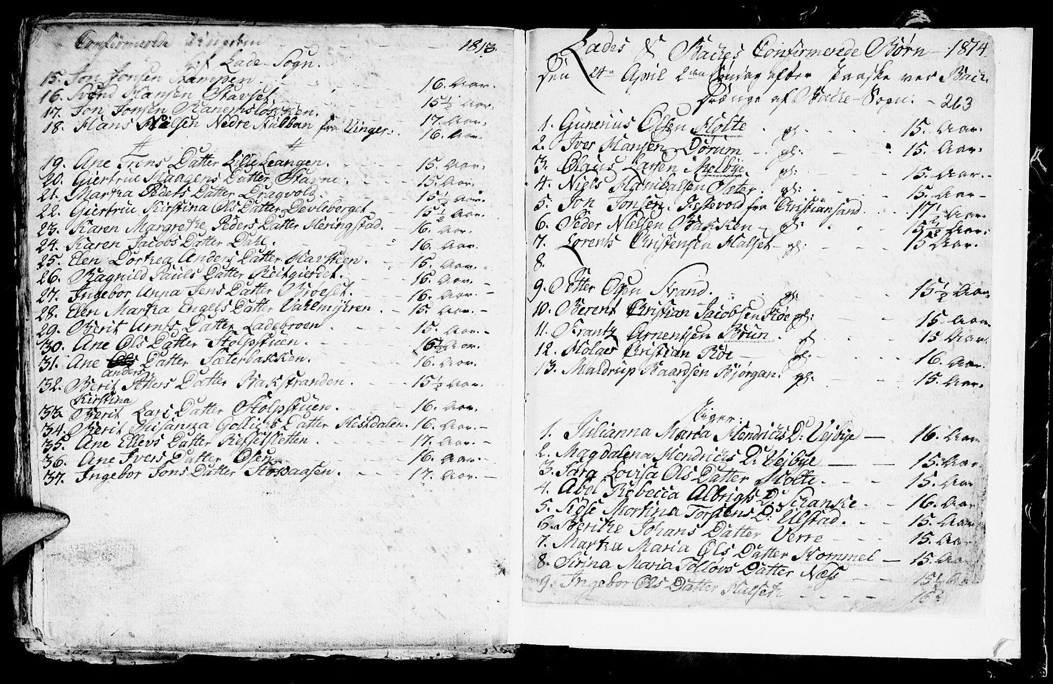 SAT, Ministerialprotokoller, klokkerbøker og fødselsregistre - Sør-Trøndelag, 604/L0218: Klokkerbok nr. 604C01, 1754-1819, s. 263