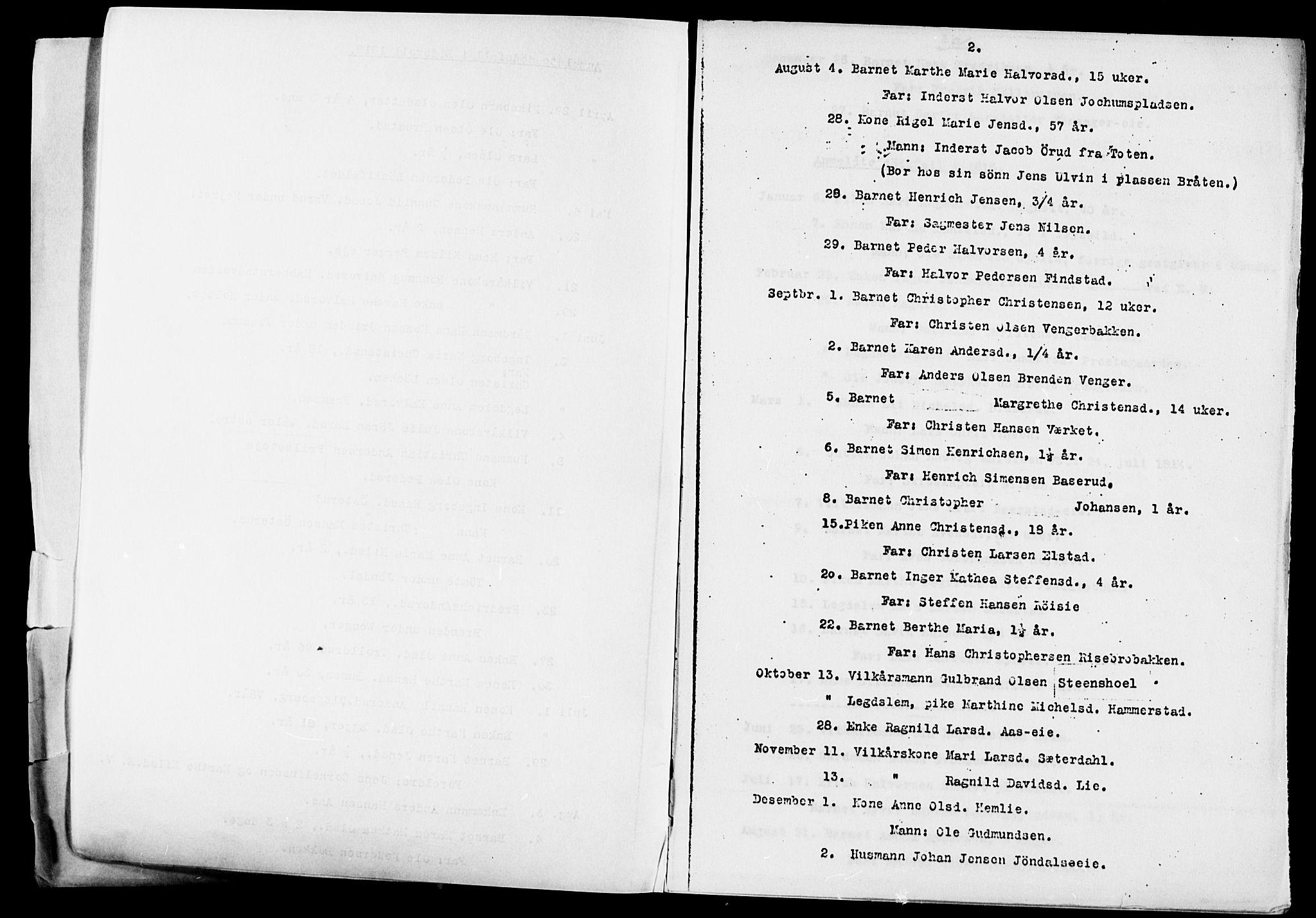 SAO, Eidsvoll prestekontor Kirkebøker, O/Oa/L0005: Annen kirkebok nr. 5, 1815-1865, s. 2