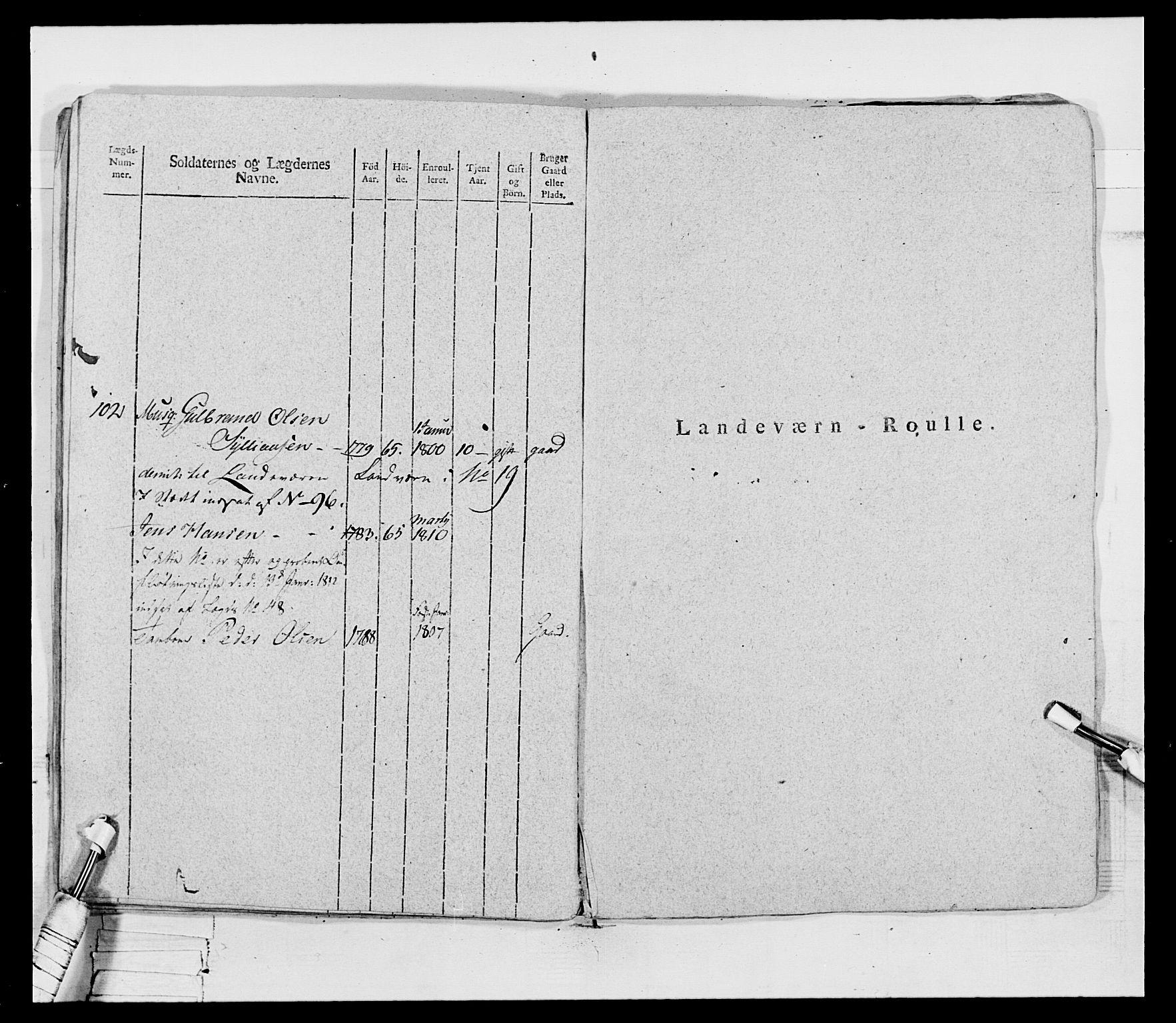 RA, Generalitets- og kommissariatskollegiet, Det kongelige norske kommissariatskollegium, E/Eh/L0069: Opplandske gevorbne infanteriregiment, 1810-1818, s. 90