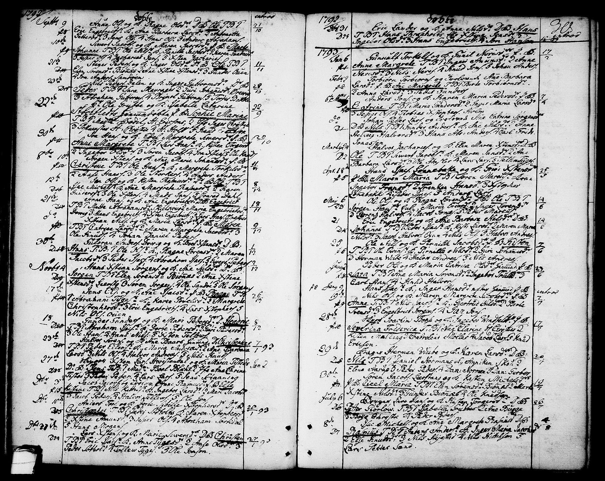 SAKO, Brevik kirkebøker, F/Fa/L0003: Ministerialbok nr. 3, 1764-1814, s. 30