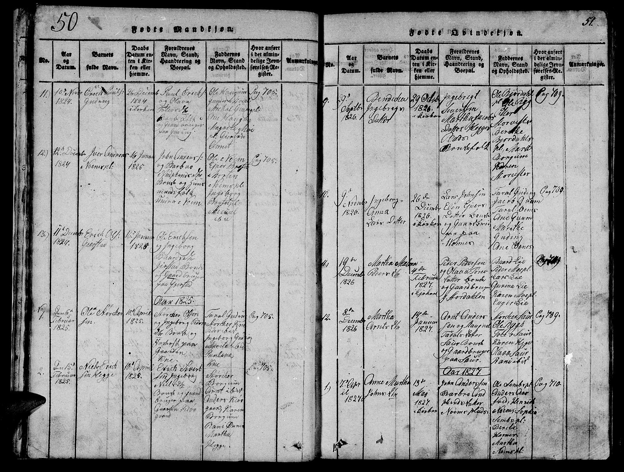 SAT, Ministerialprotokoller, klokkerbøker og fødselsregistre - Nord-Trøndelag, 747/L0459: Klokkerbok nr. 747C01, 1816-1842, s. 50-51