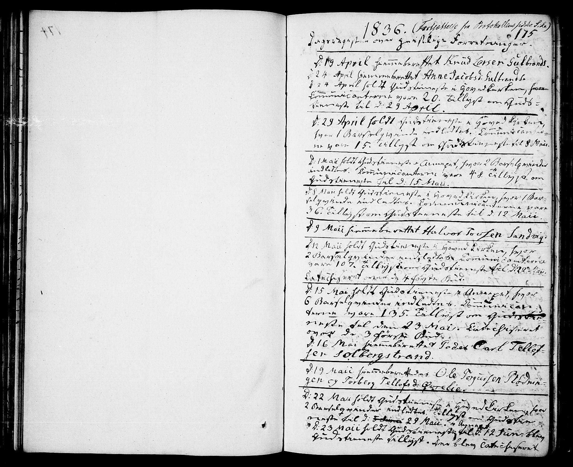 SAKO, Drangedal kirkebøker, F/Fa/L0006: Ministerialbok nr. 6, 1831-1837, s. 175