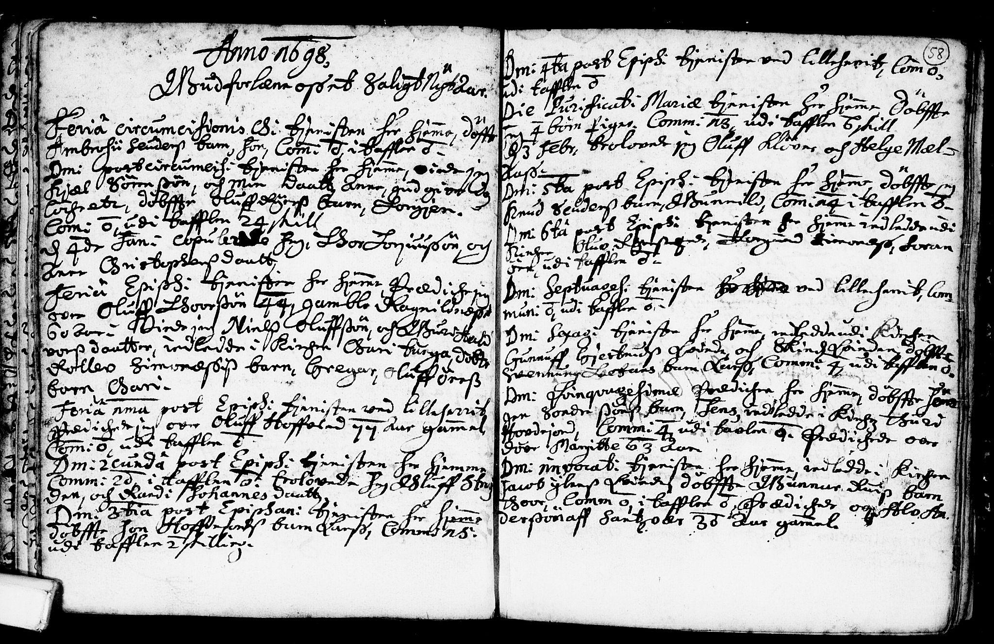 SAKO, Heddal kirkebøker, F/Fa/L0001: Ministerialbok nr. I 1, 1648-1699, s. 58