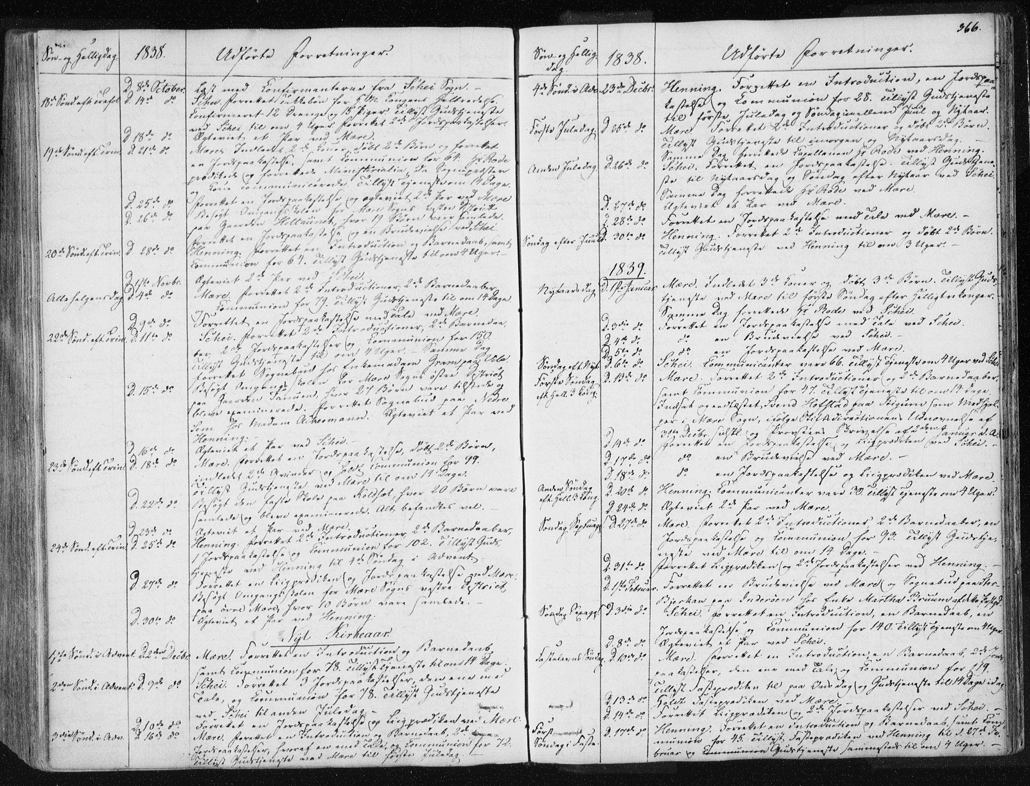 SAT, Ministerialprotokoller, klokkerbøker og fødselsregistre - Nord-Trøndelag, 735/L0339: Ministerialbok nr. 735A06 /1, 1836-1848, s. 366