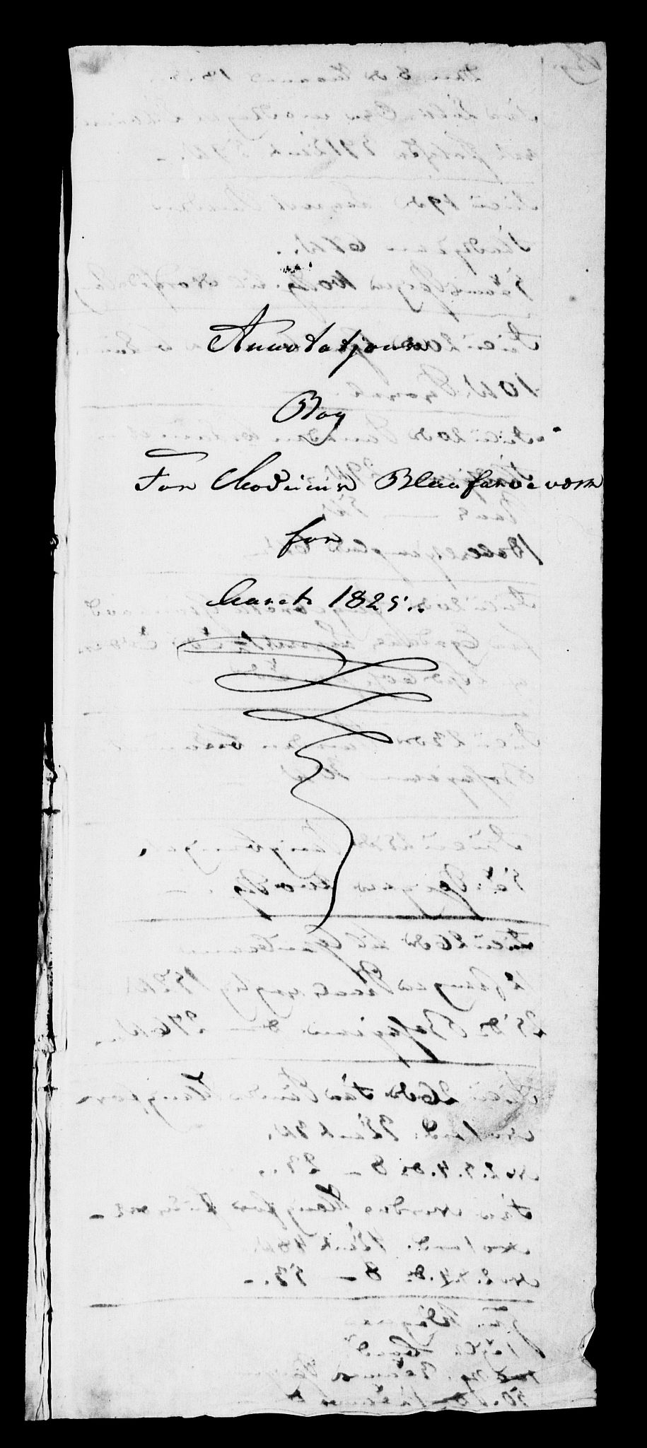 RA, Modums Blaafarveværk, G/Gd/Gdb/L0197: Annotations Bog, Dagbok over inn- og utgående materiale, 1825-1828, s. 2