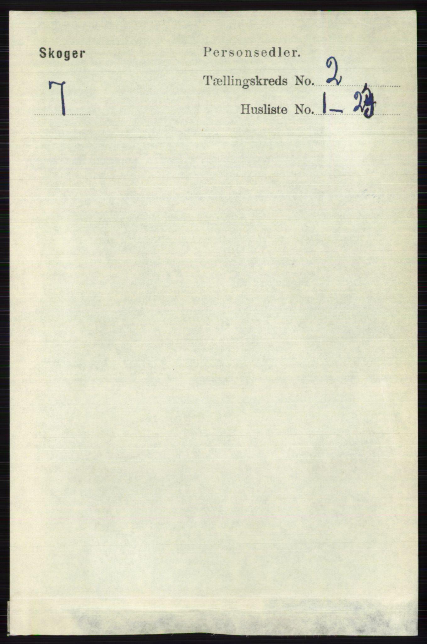 RA, Folketelling 1891 for 0712 Skoger herred, 1891, s. 854