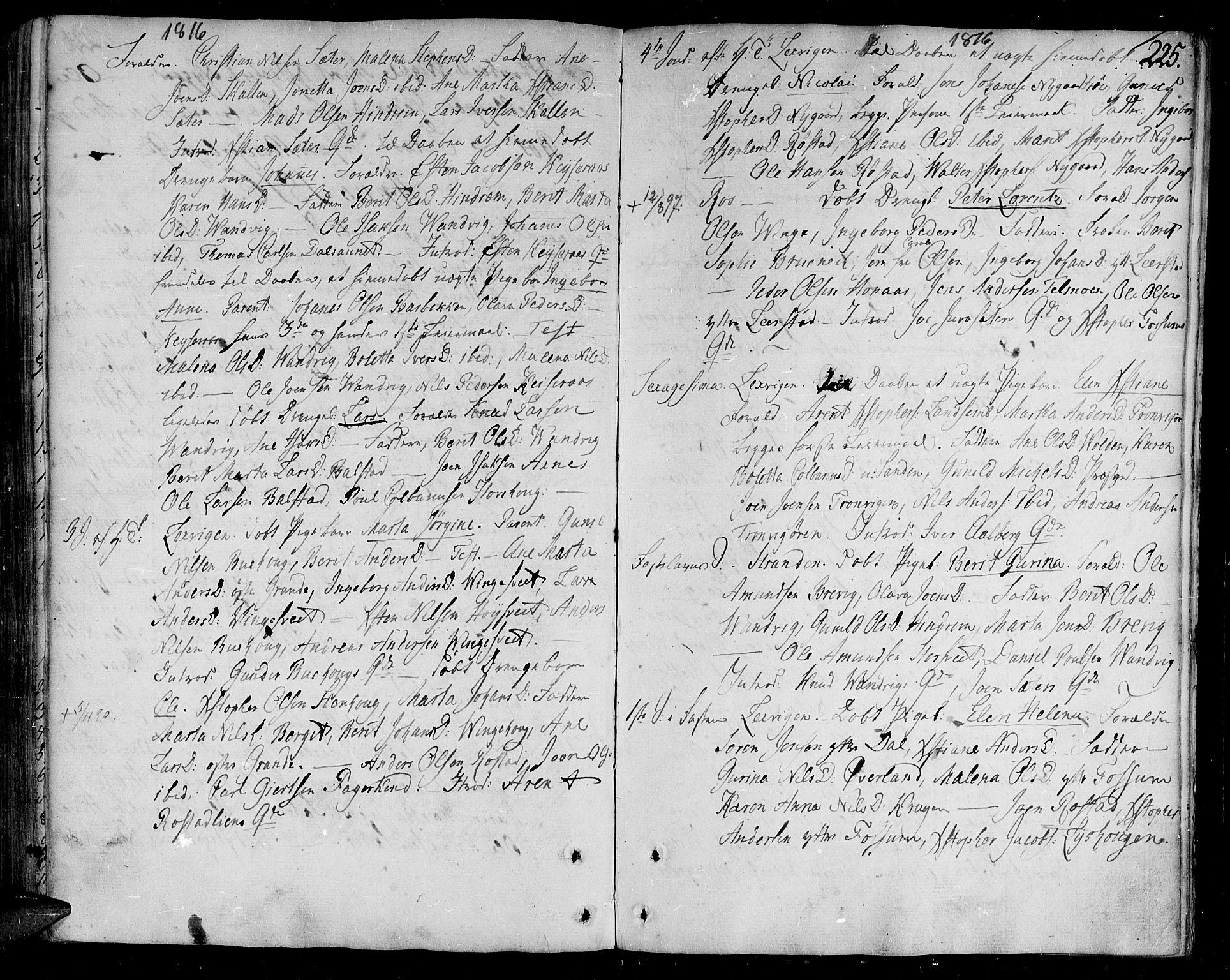 SAT, Ministerialprotokoller, klokkerbøker og fødselsregistre - Nord-Trøndelag, 701/L0004: Ministerialbok nr. 701A04, 1783-1816, s. 225
