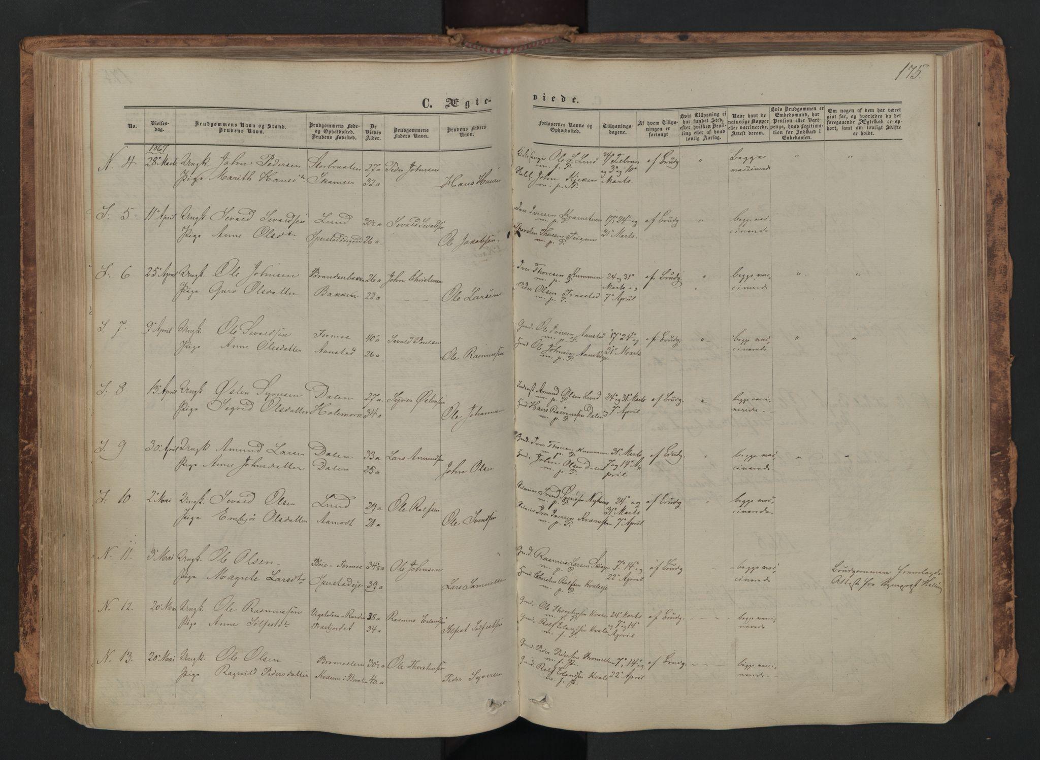 SAH, Skjåk prestekontor, Ministerialbok nr. 1, 1863-1879, s. 175