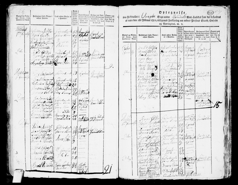 RA, Folketelling 1801 for 1545P Aukra prestegjeld, 1801, s. 464b-465a