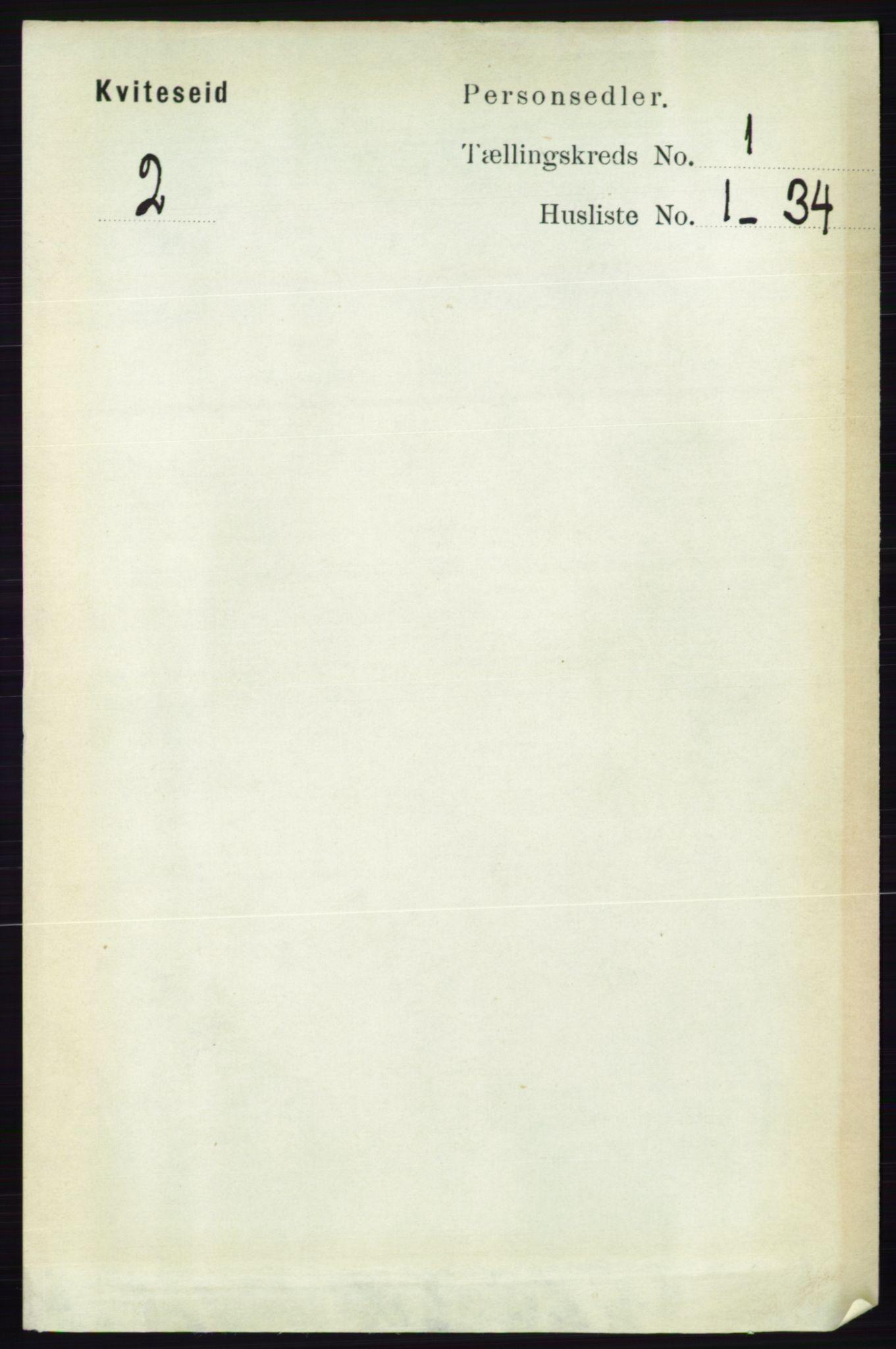 RA, Folketelling 1891 for 0829 Kviteseid herred, 1891, s. 76