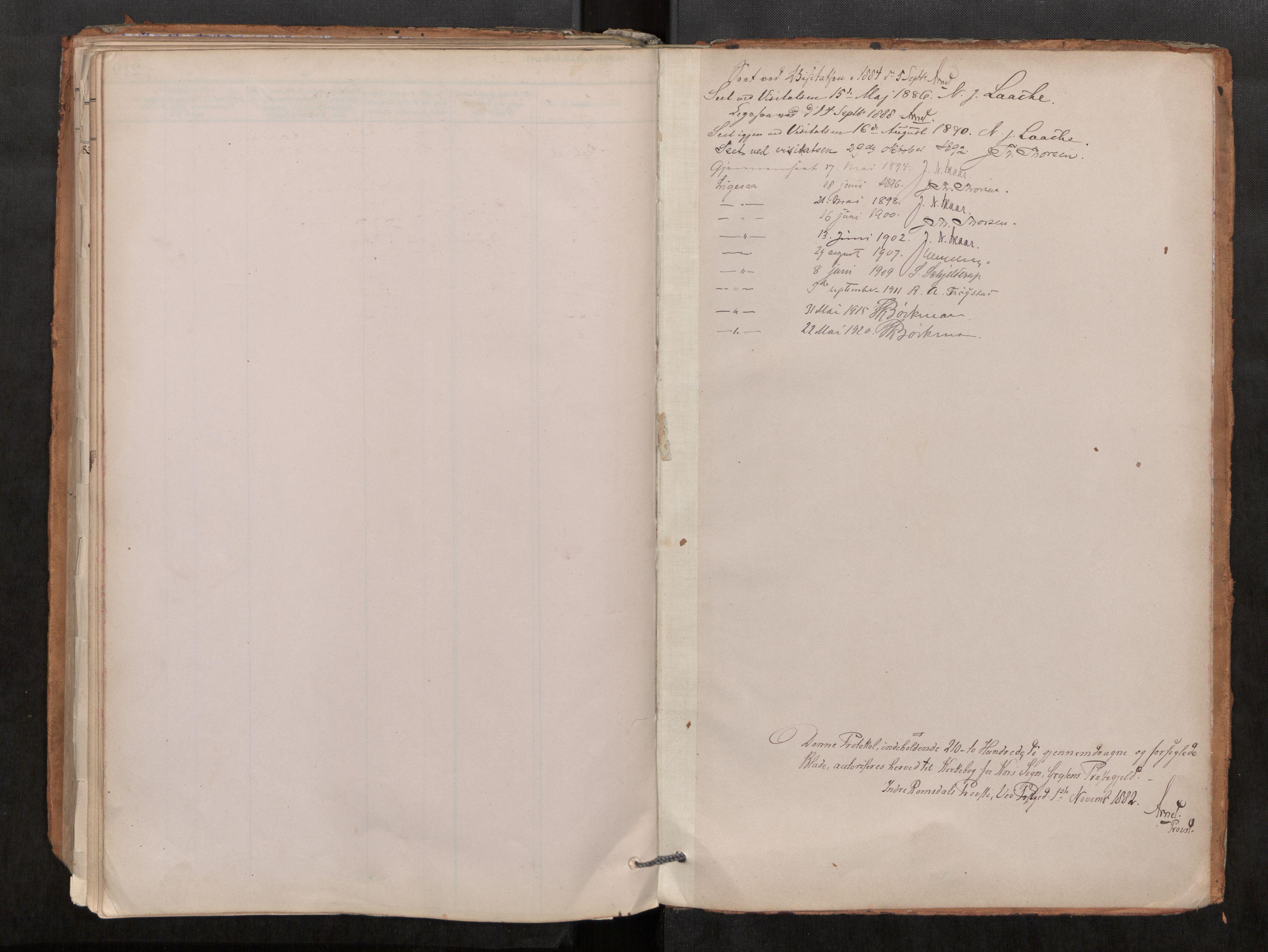 SAT, Grytten sokneprestkontor, Ministerialbok nr. 546A03, 1882-1920
