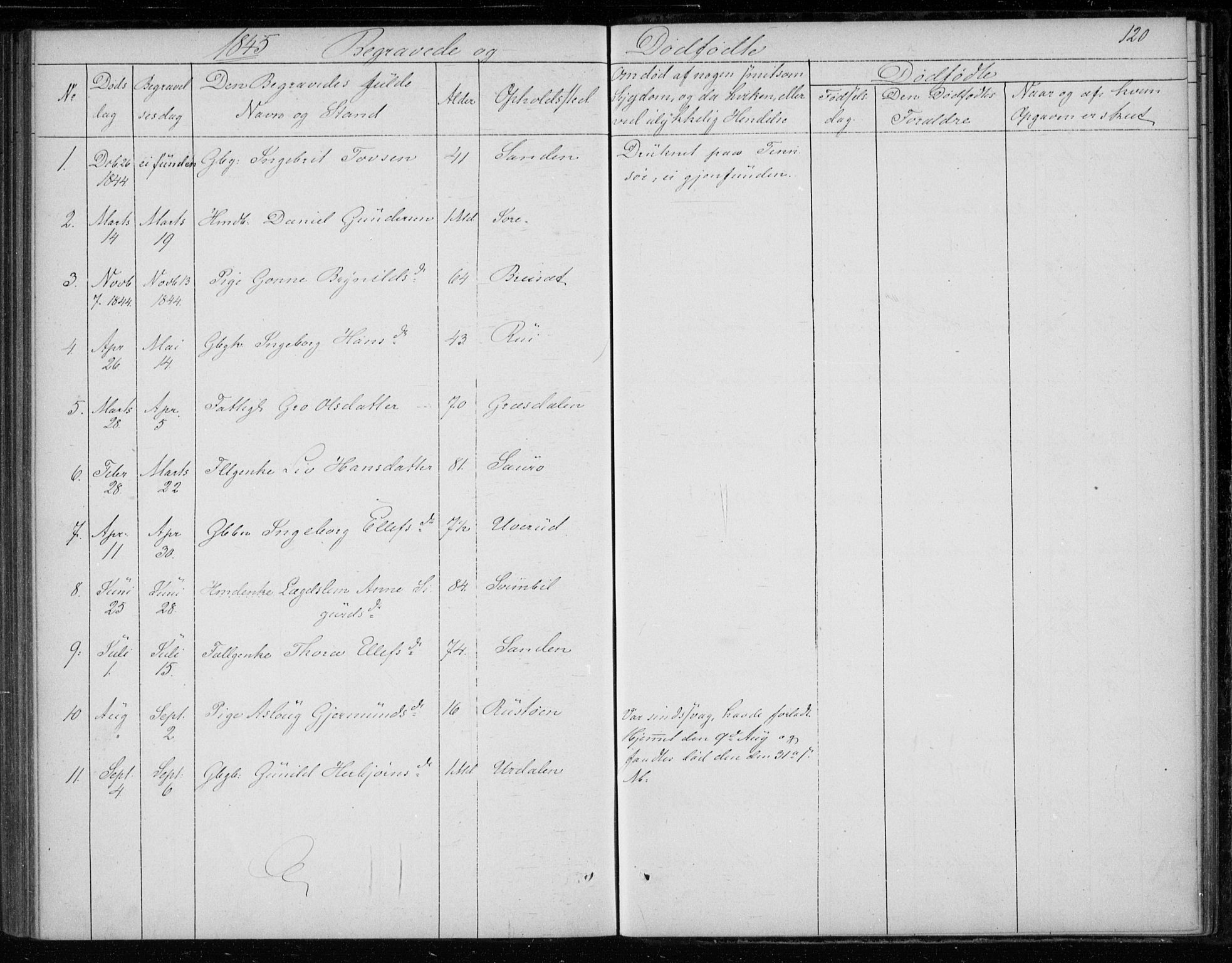 SAKO, Gransherad kirkebøker, F/Fb/L0003: Ministerialbok nr. II 3, 1844-1859, s. 120