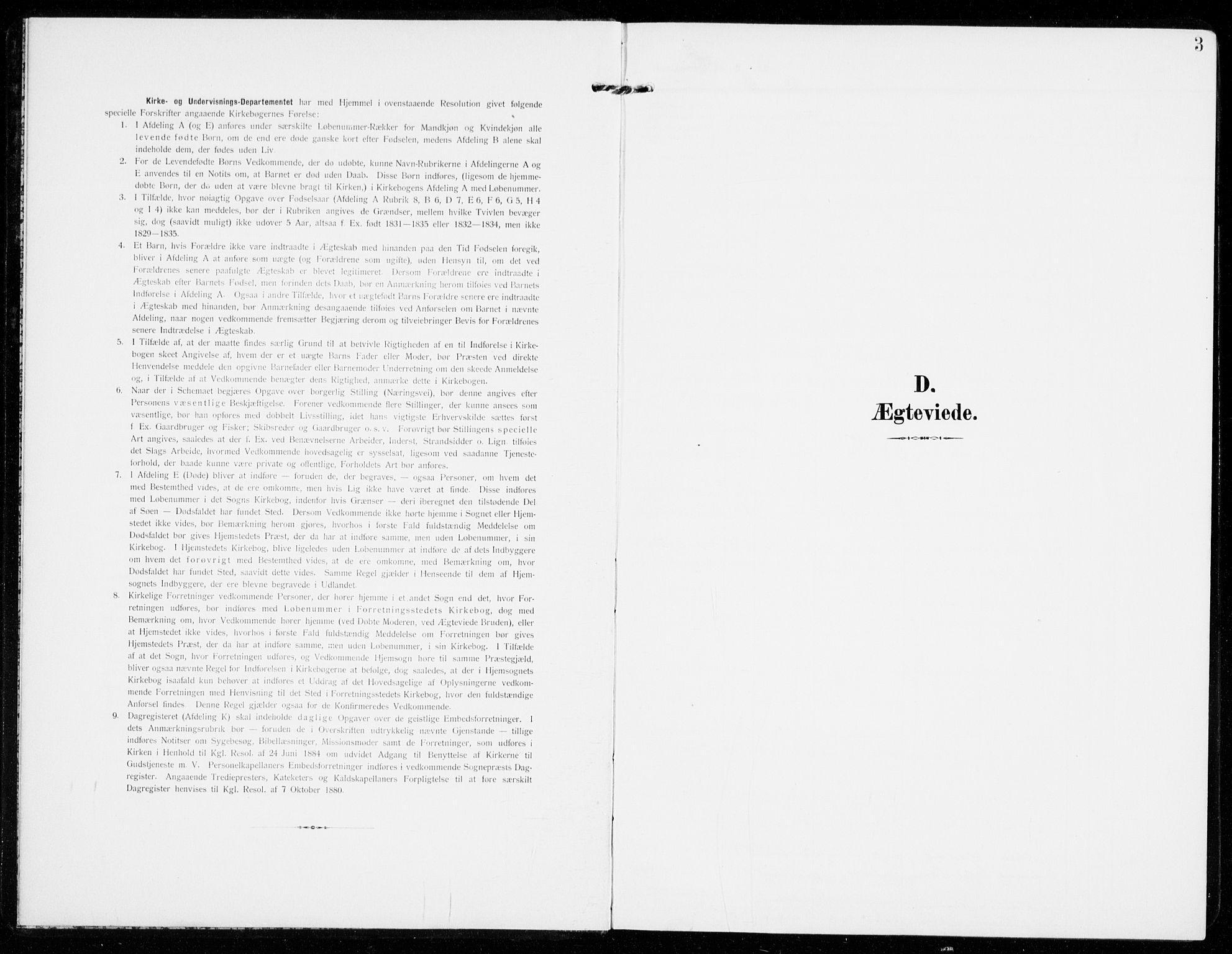 SAKO, Sandar kirkebøker, F/Fa/L0019: Ministerialbok nr. 19, 1908-1914, s. 3