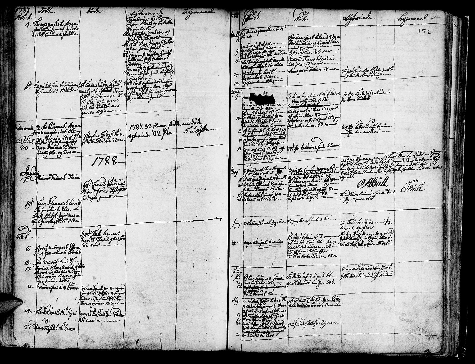 SAT, Ministerialprotokoller, klokkerbøker og fødselsregistre - Nord-Trøndelag, 741/L0385: Ministerialbok nr. 741A01, 1722-1815, s. 172