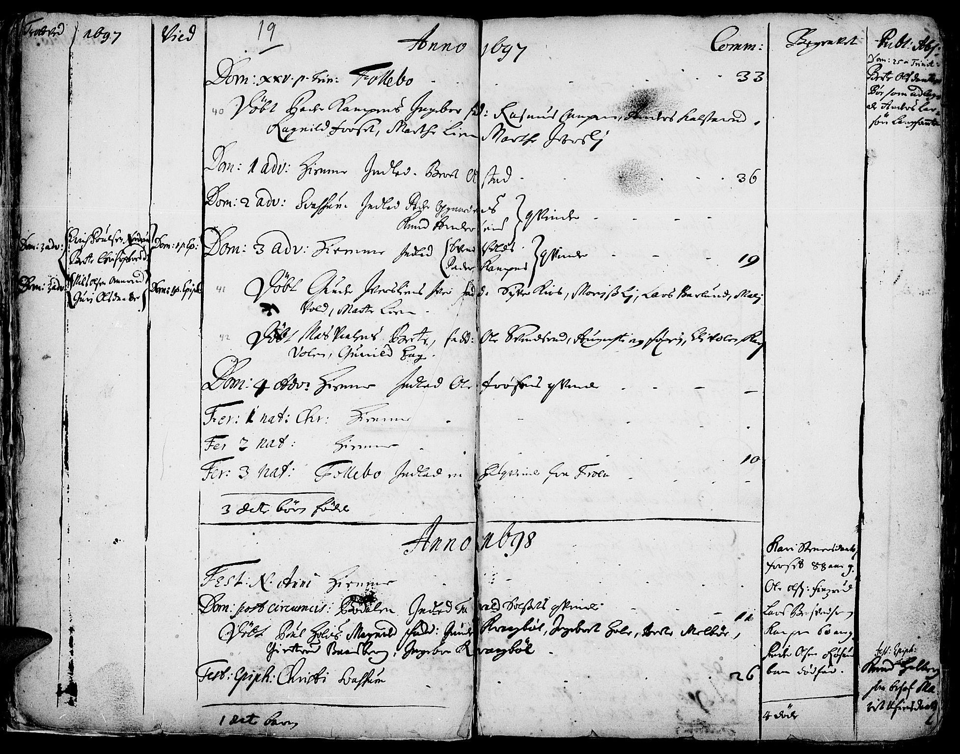 SAH, Gausdal prestekontor, Ministerialbok nr. 1, 1693-1728, s. 19