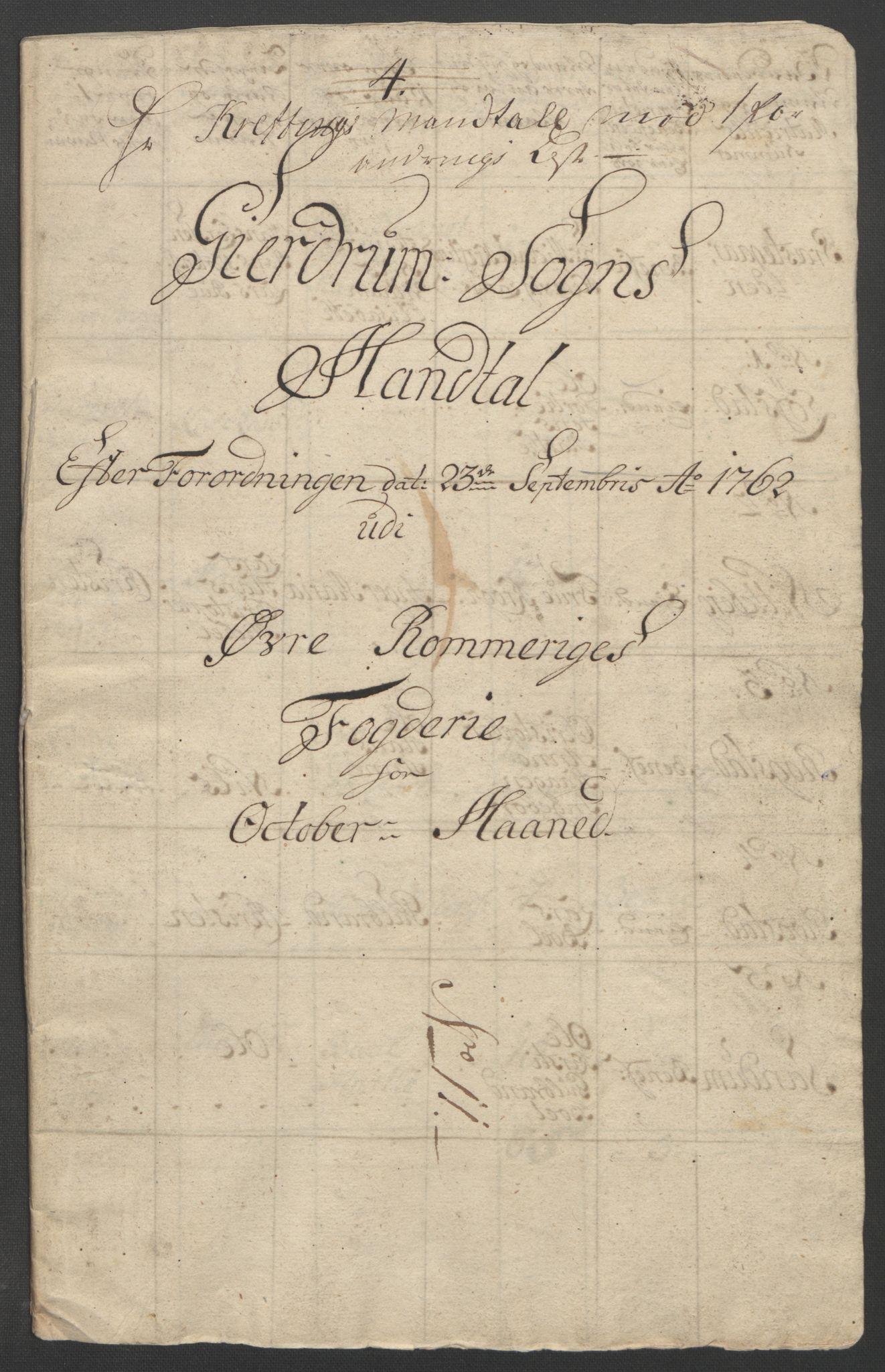 RA, Rentekammeret inntil 1814, Reviderte regnskaper, Fogderegnskap, R12/L0802: Ekstraskatten Øvre Romerike, 1762, s. 313
