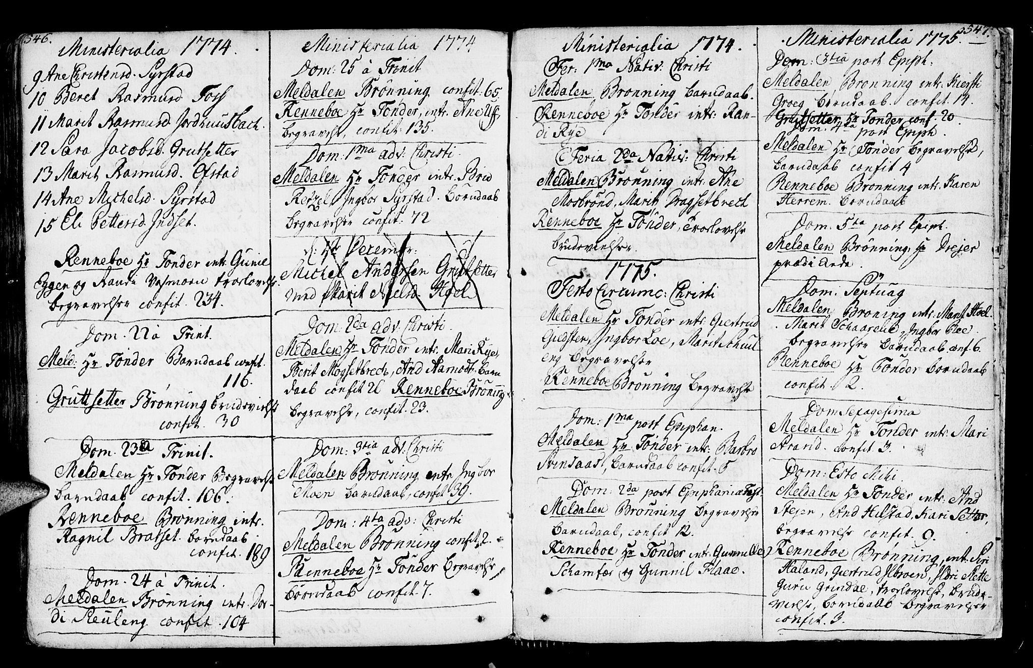 SAT, Ministerialprotokoller, klokkerbøker og fødselsregistre - Sør-Trøndelag, 672/L0851: Ministerialbok nr. 672A04, 1751-1775, s. 546-547