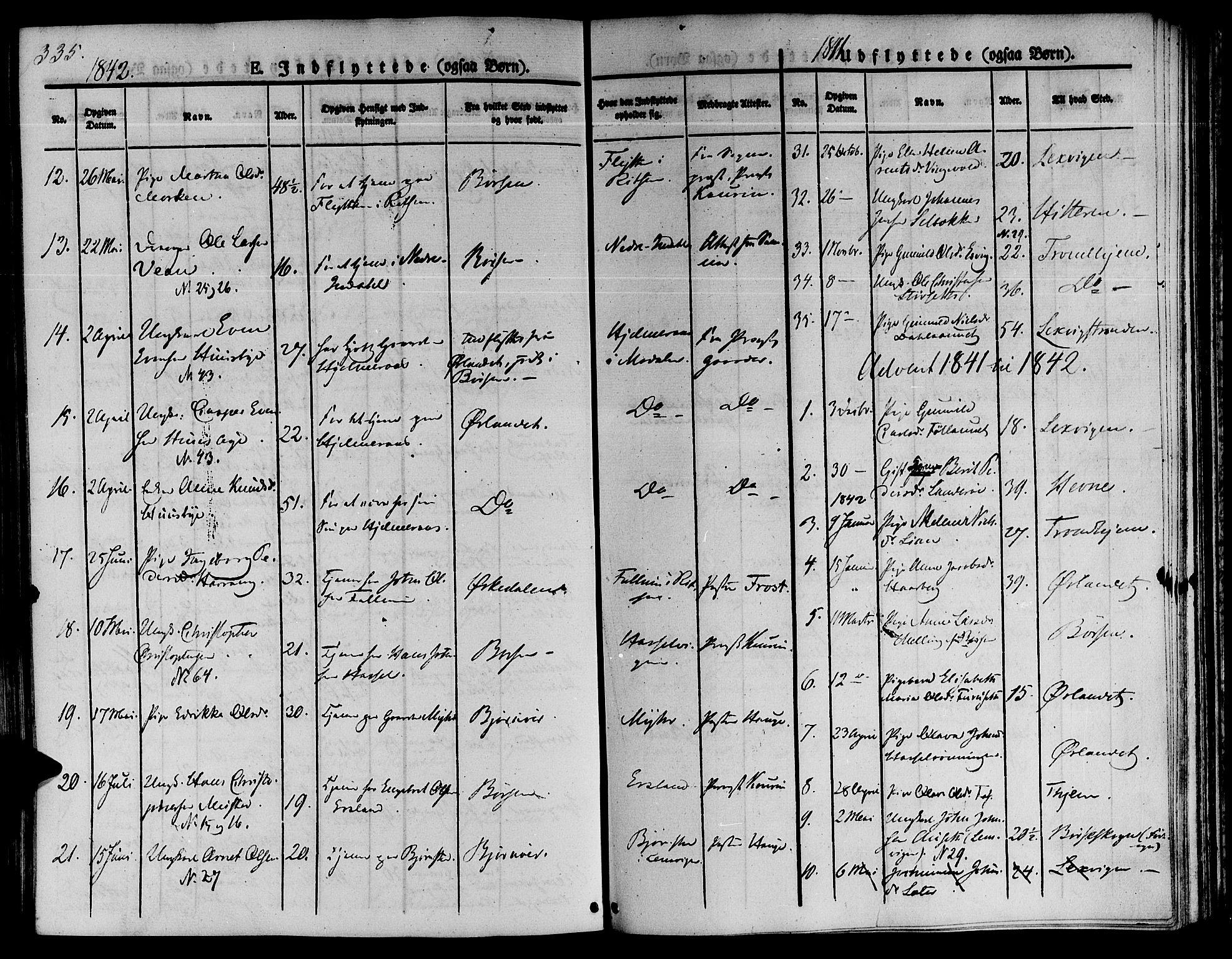 SAT, Ministerialprotokoller, klokkerbøker og fødselsregistre - Sør-Trøndelag, 646/L0610: Ministerialbok nr. 646A08, 1837-1847, s. 335