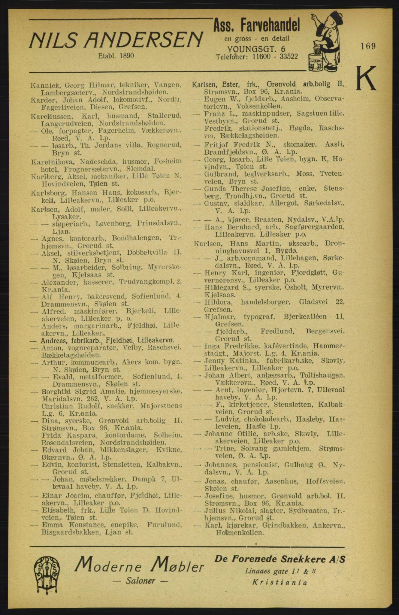 PUBL, Aker adressebok/adressekalender, 1922, s. 169