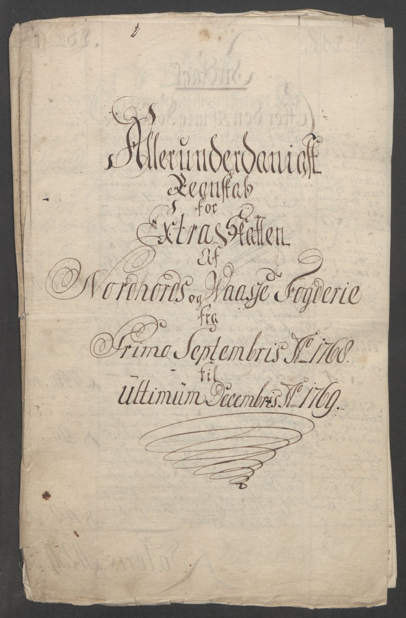 RA, Rentekammeret inntil 1814, Reviderte regnskaper, Fogderegnskap, R51/L3303: Ekstraskatten Nordhordland og Voss, 1762-1772, s. 341