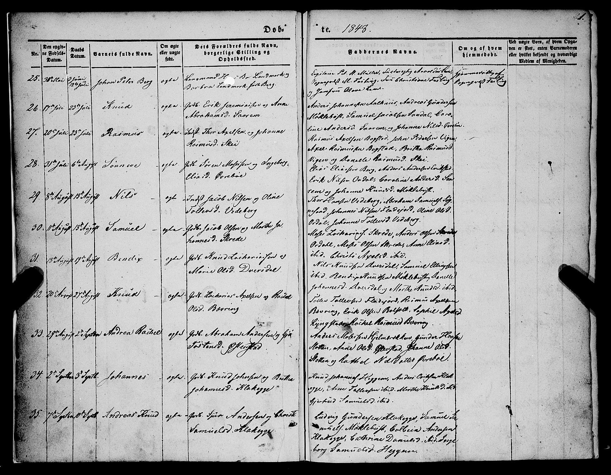 SAB, Jølster Sokneprestembete, Ministerialbok nr. A 10, 1847-1865, s. 1