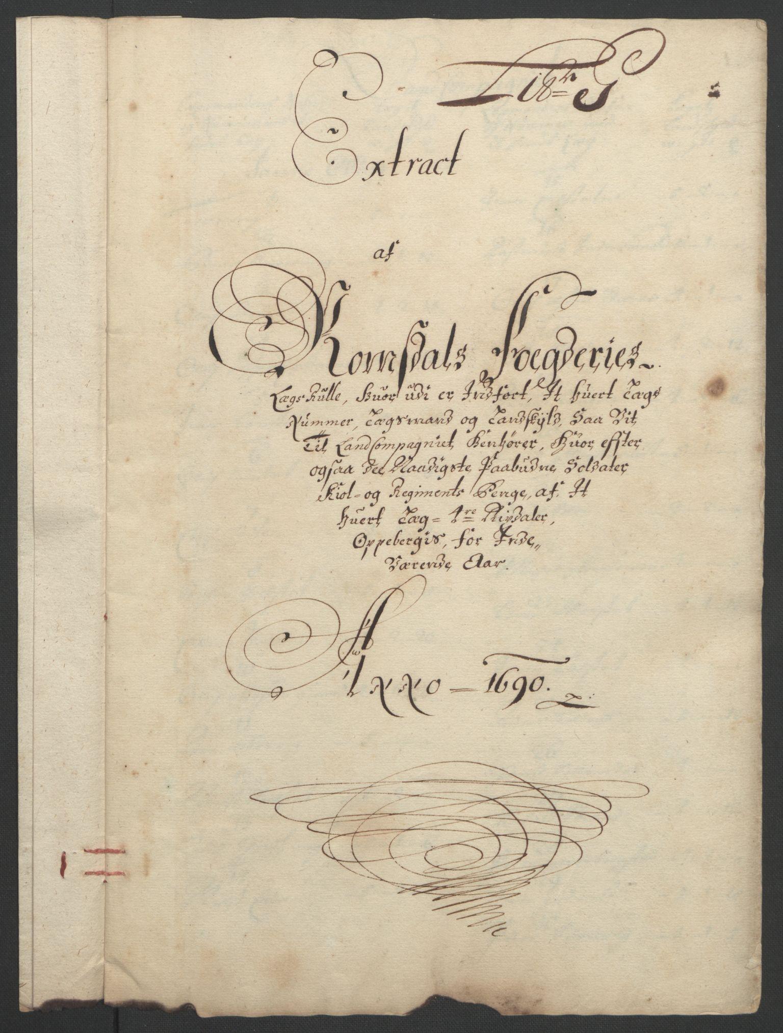 RA, Rentekammeret inntil 1814, Reviderte regnskaper, Fogderegnskap, R55/L3649: Fogderegnskap Romsdal, 1690-1691, s. 81