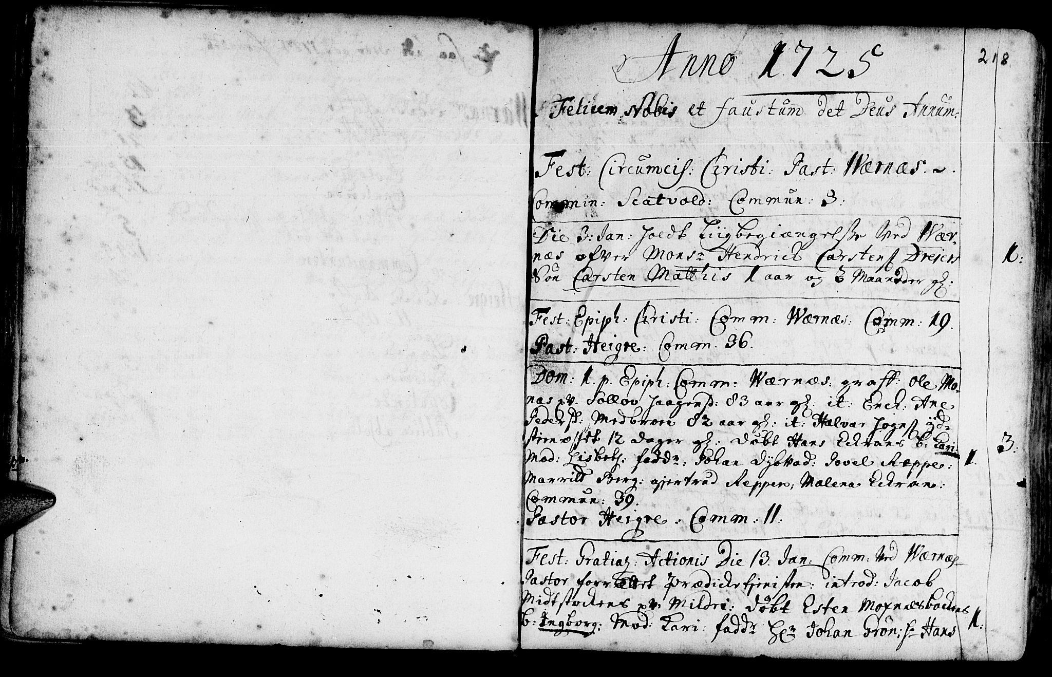 SAT, Ministerialprotokoller, klokkerbøker og fødselsregistre - Nord-Trøndelag, 709/L0054: Ministerialbok nr. 709A02, 1714-1738, s. 217-218