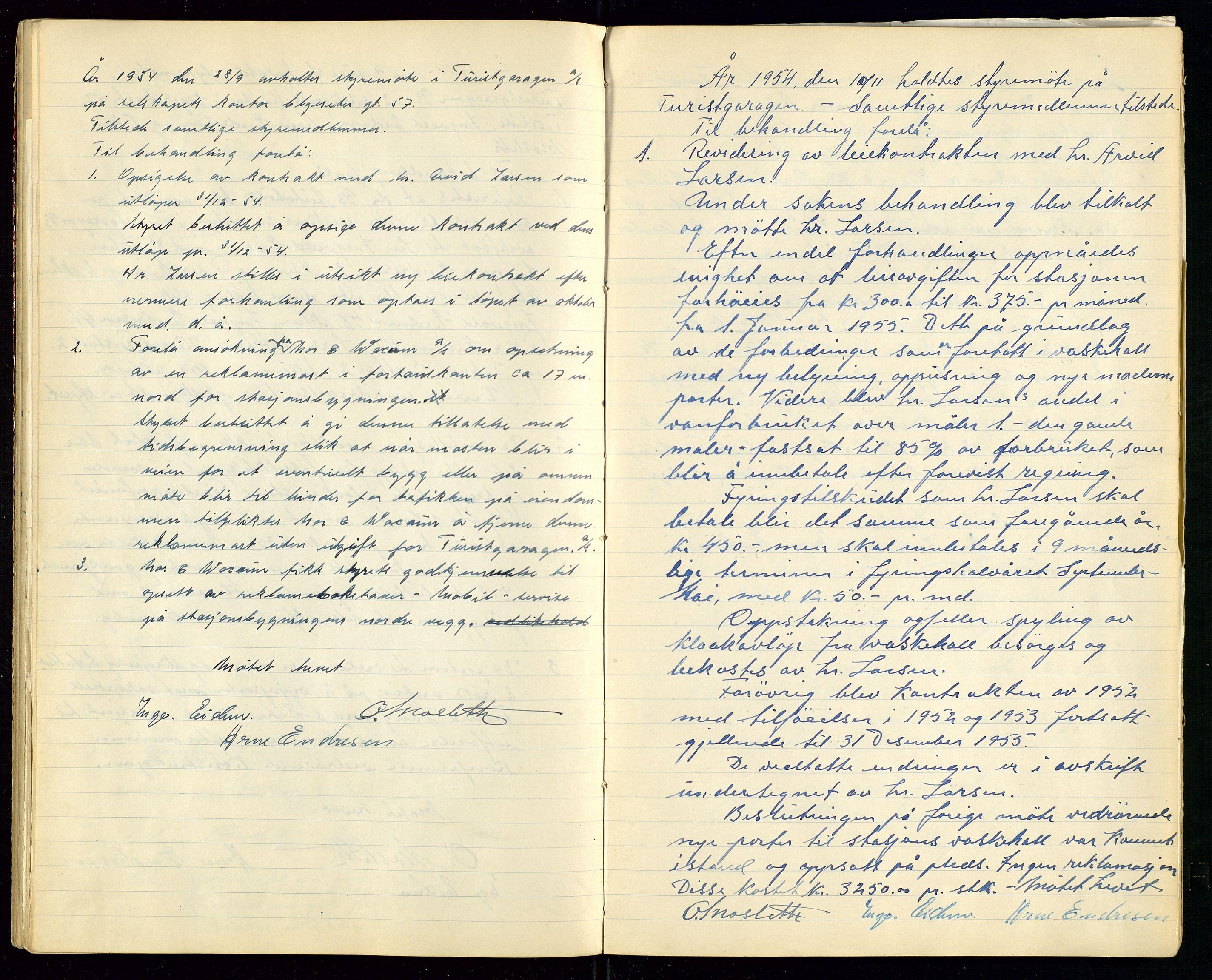 SAST, PA 1515 - Turistgarasjen A/S, A/L0001: Forhandlingsprotokoll, 1937-1958, s. 35