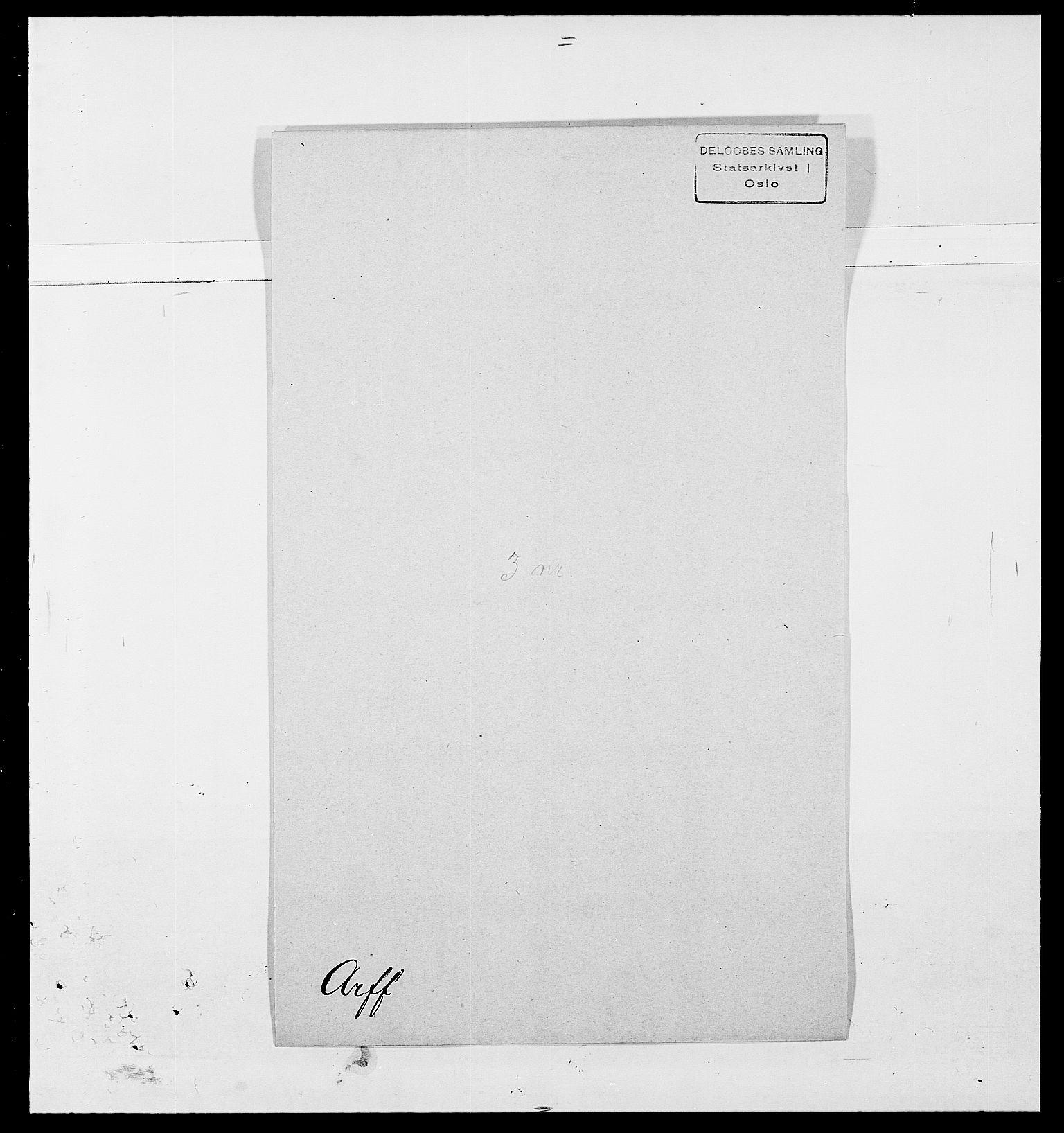 SAO, Delgobe, Charles Antoine - samling, D/Da/L0002: Anker, Ancher - Bauner, s. 292