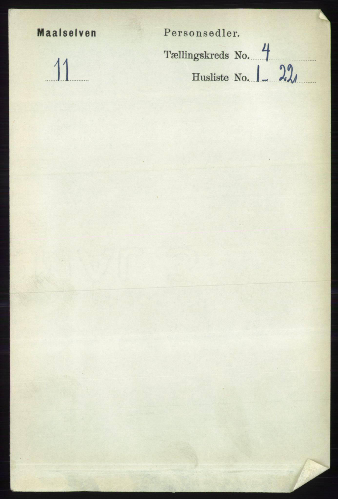 RA, Folketelling 1891 for 1924 Målselv herred, 1891, s. 1076