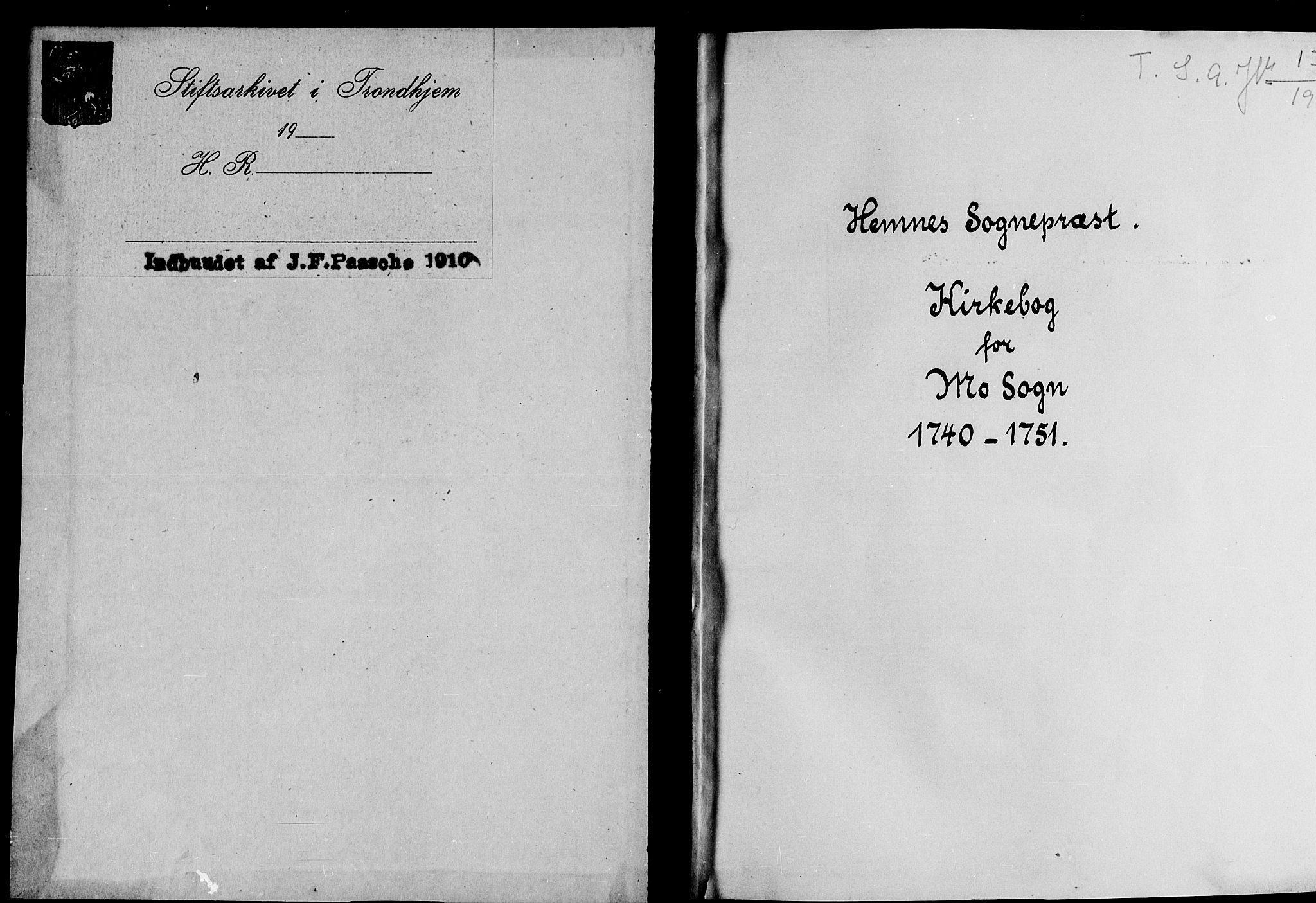 SAT, Ministerialprotokoller, klokkerbøker og fødselsregistre - Nordland, 827/L0389: Ministerialbok nr. 827A01, 1740-1751