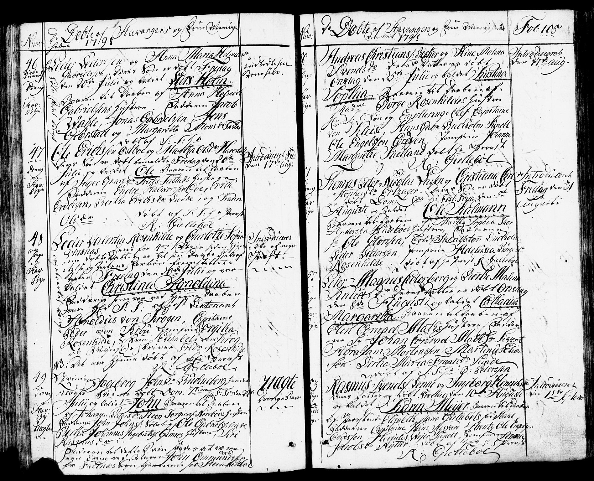 SAST, Domkirken sokneprestkontor, 30/30BB/L0007: Klokkerbok nr. B 7, 1791-1813, s. 105