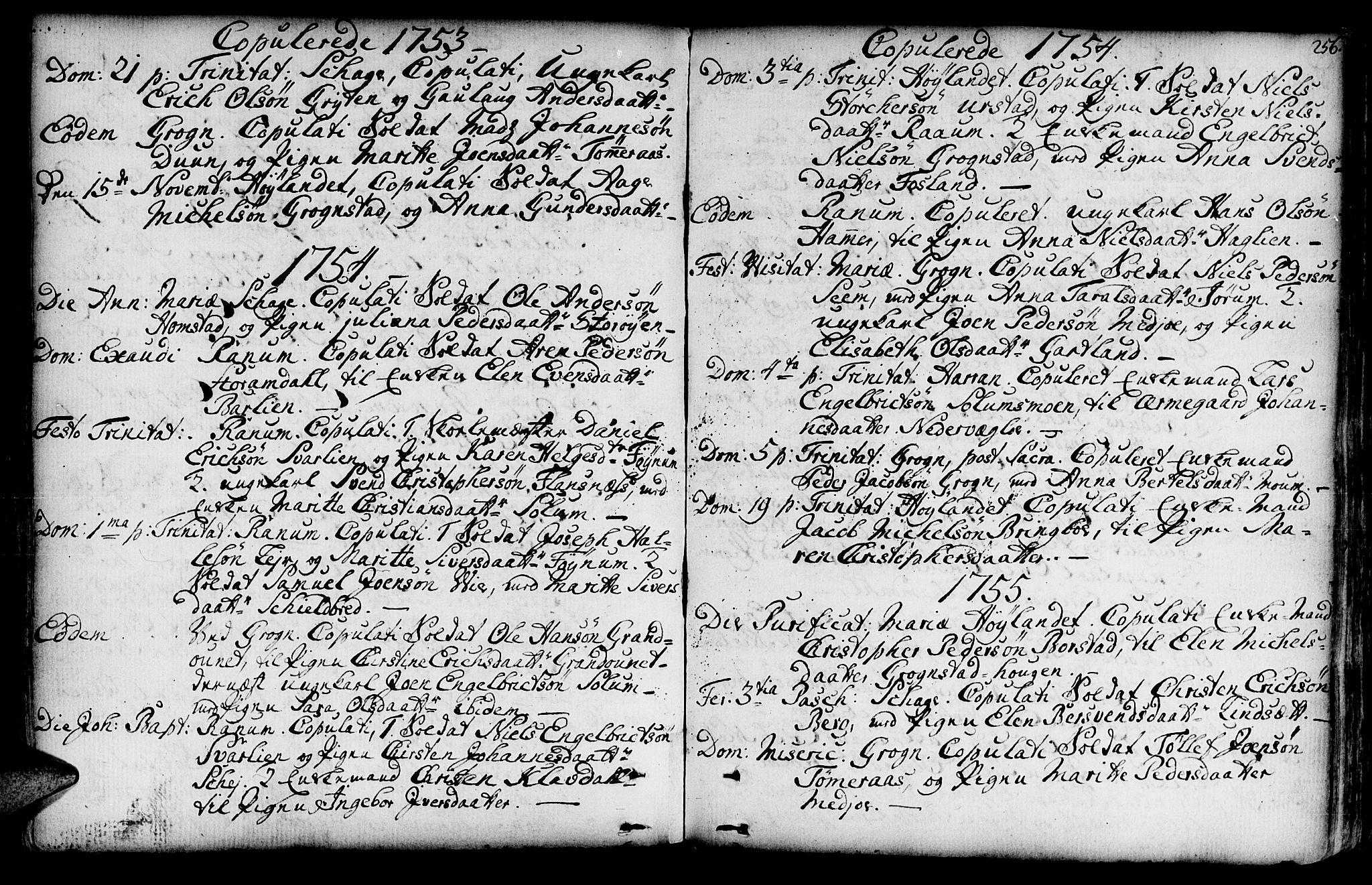 SAT, Ministerialprotokoller, klokkerbøker og fødselsregistre - Nord-Trøndelag, 764/L0542: Ministerialbok nr. 764A02, 1748-1779, s. 256