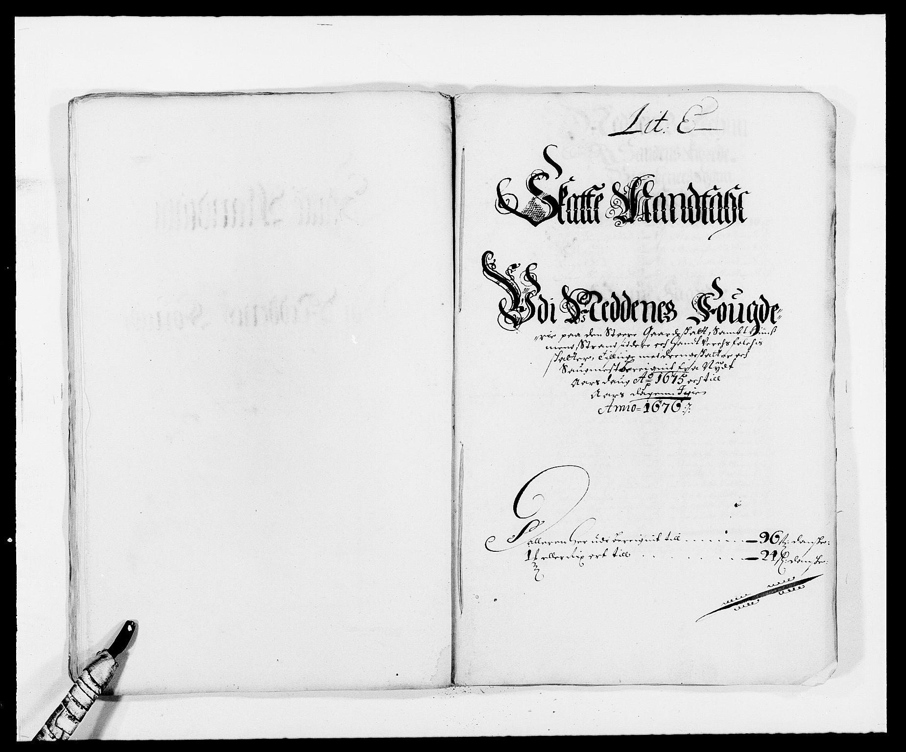 RA, Rentekammeret inntil 1814, Reviderte regnskaper, Fogderegnskap, R39/L2301: Fogderegnskap Nedenes, 1675-1676, s. 92