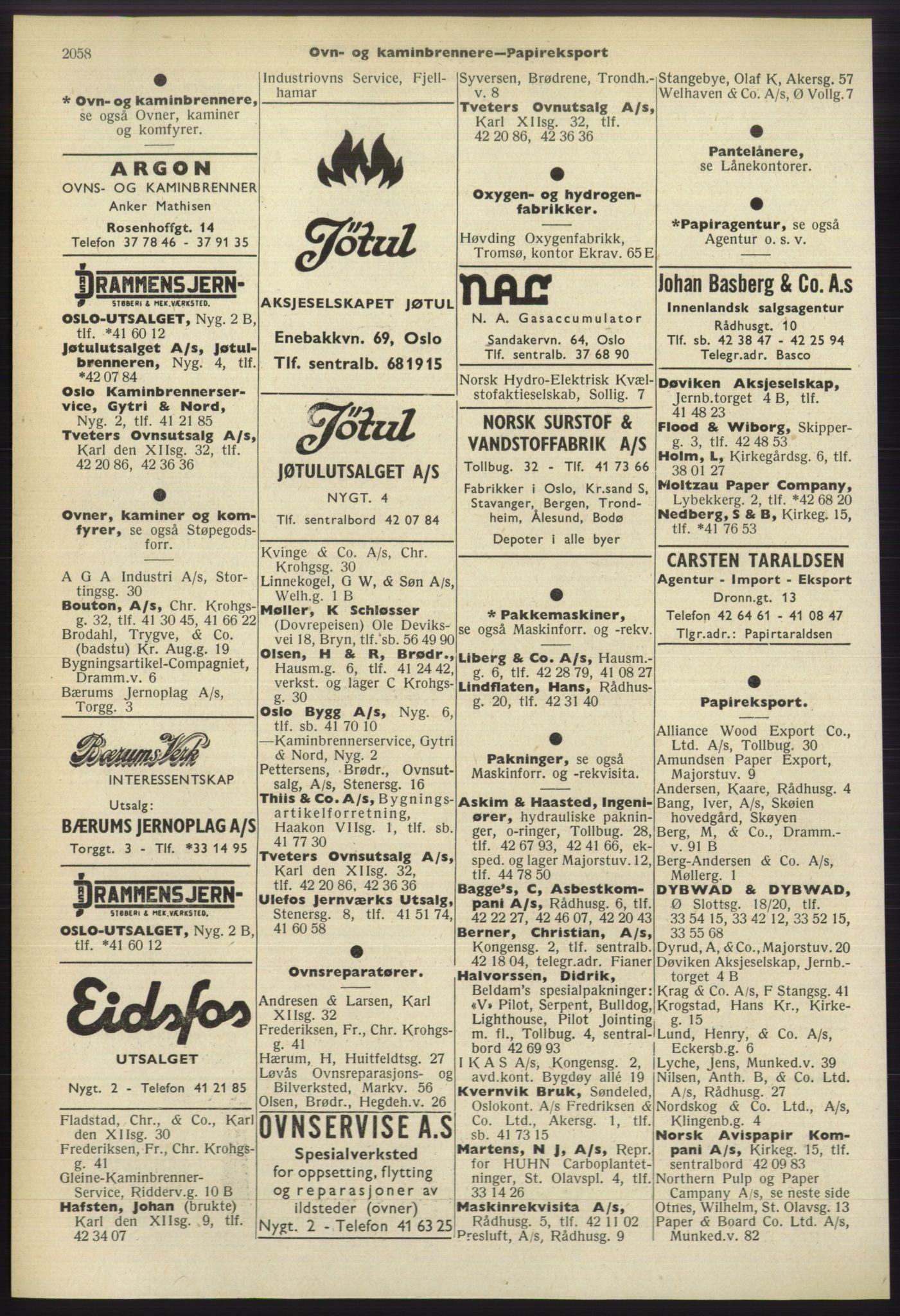 RA, Oslo adressebok (publikasjon)*, 1960-1961, s. 2058